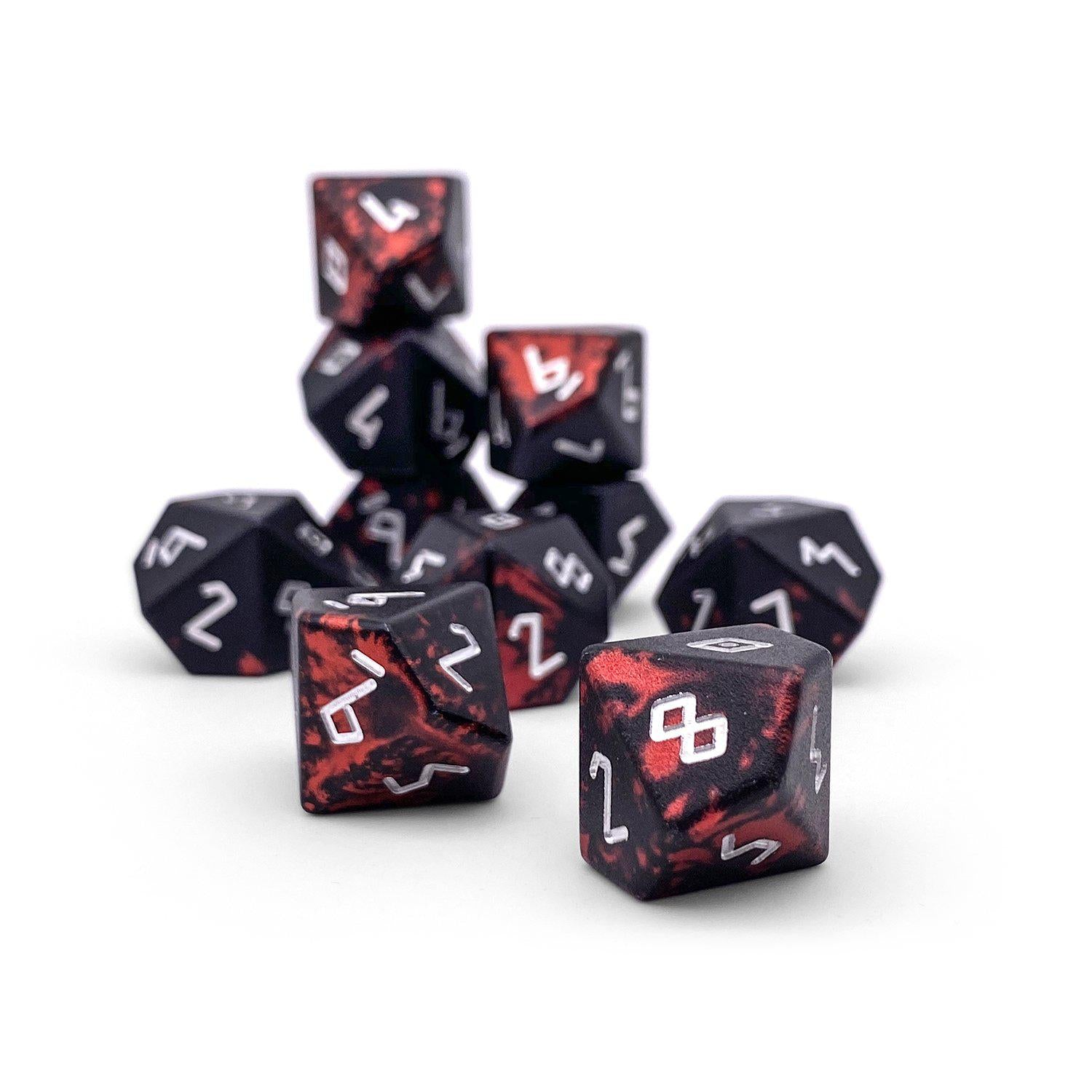 Demons Blood - Set of 10 D10s - Wondrous Dice