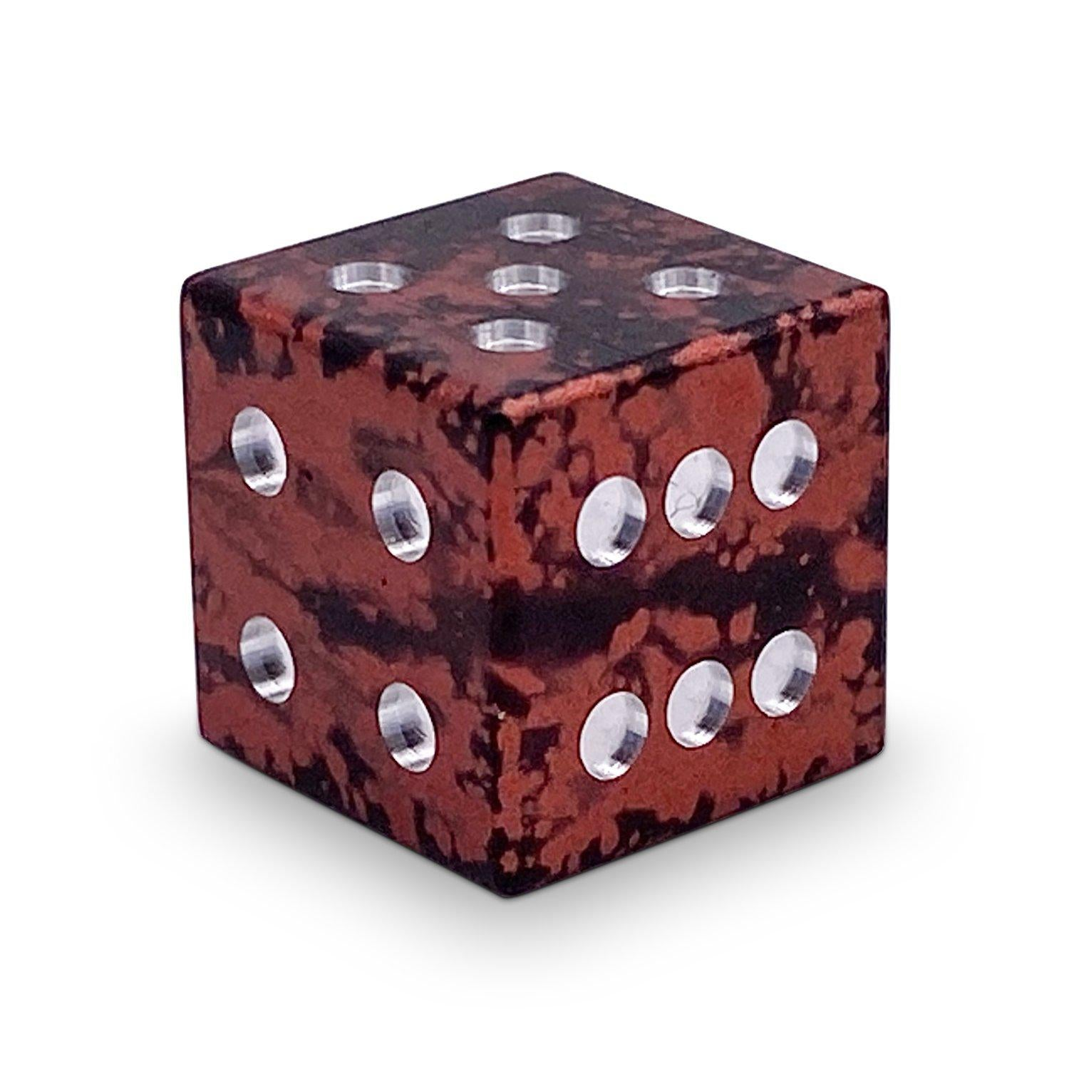 Single Wondrous D6 Mini Pips - Sharp Corners - Demon's Blood