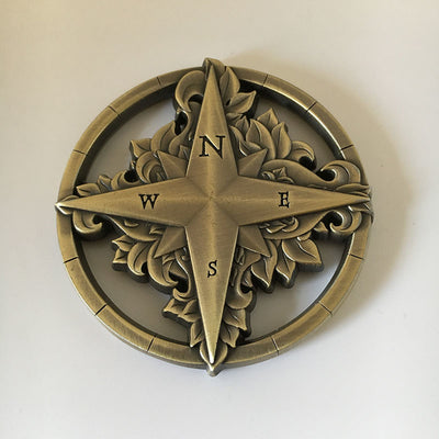 Deven Rue Compass Rose 50mm Metal by Campaign Coins