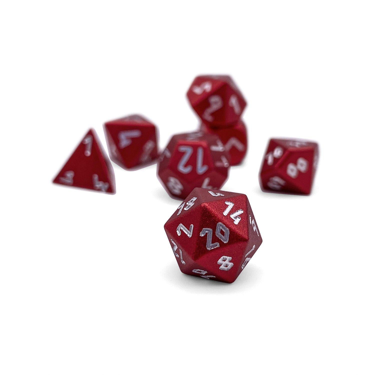 Devils Red Pebble ™ Dice - 10mm 6063 Aircraft Grade Aluminum Mini