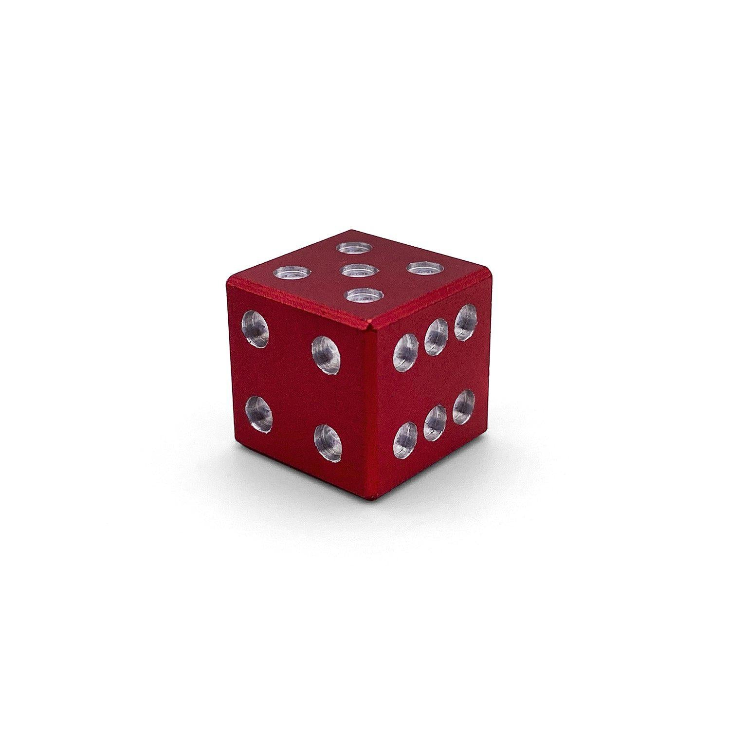Aluminum Die - Mini D6 - Sharp Corner - Devils Red