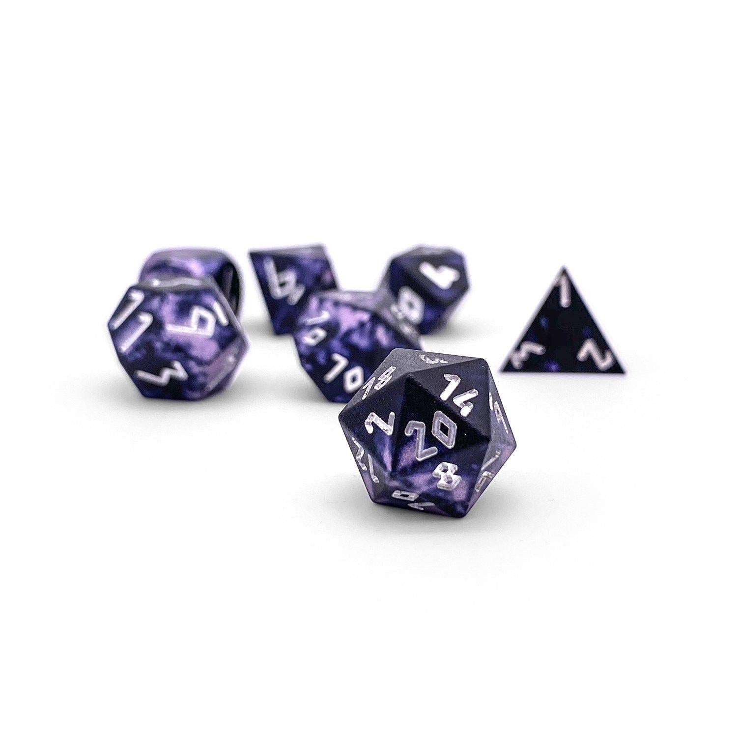 Dracolich Wondrous Pebble ™ Dice - 10mm 6063 Aircraft Grade Aluminum Mini
