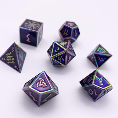 Dragur - Norse Themed Metal Dice Set