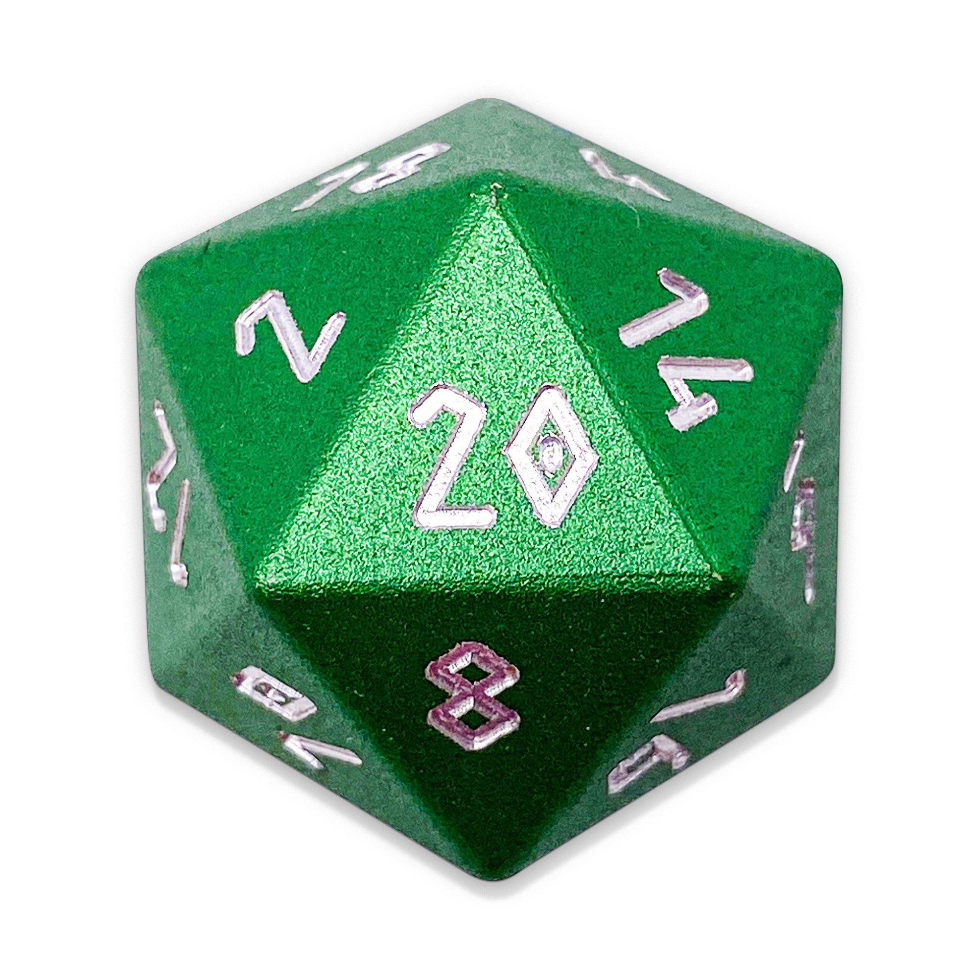 Druid Green - D20 Single - Aluminum Dice