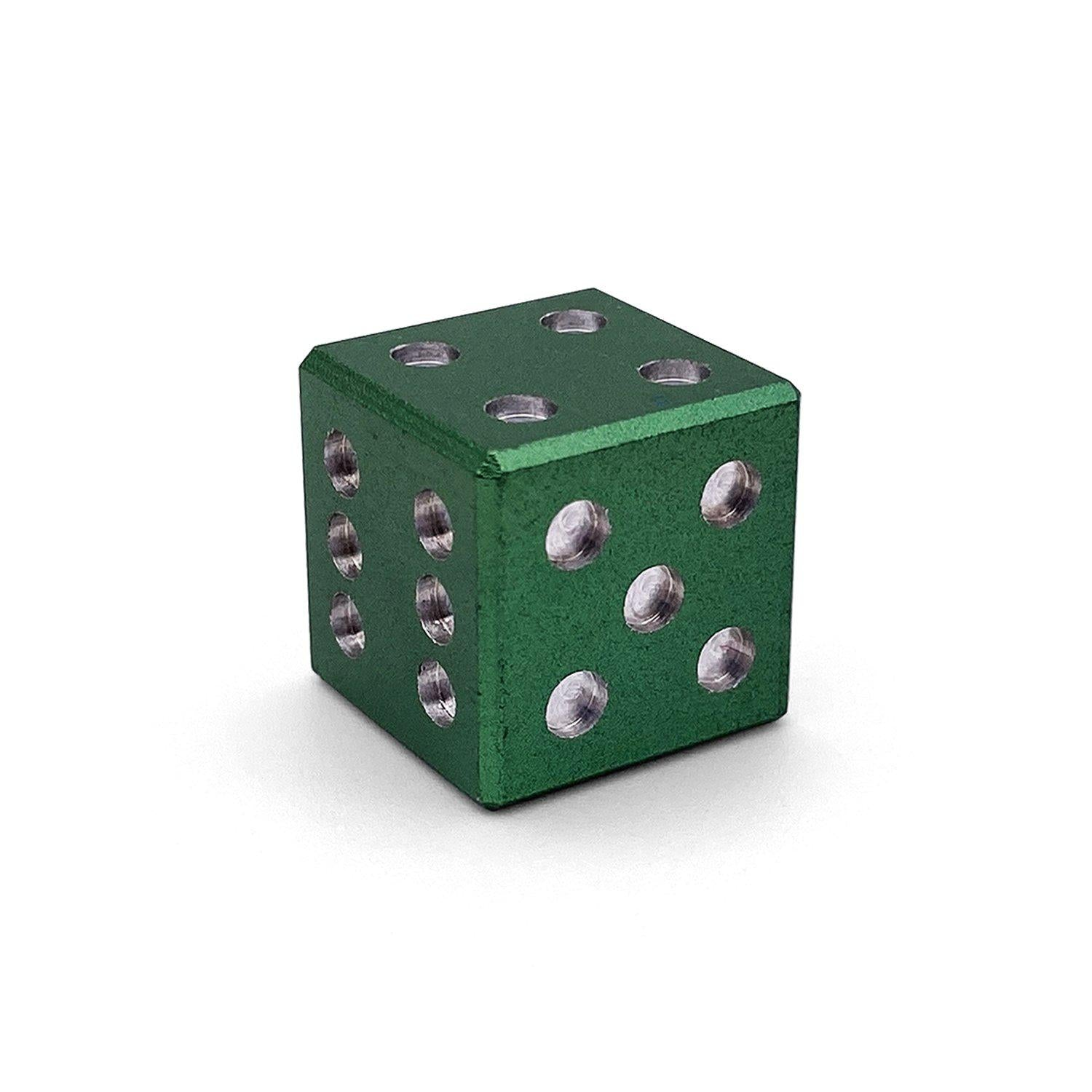 Mini Aluminum D6 - Druid Green - Sharp Corner