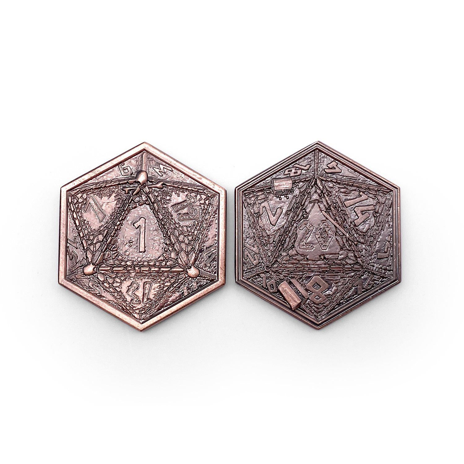 Metal RPG Dungeon Delvers Coin Copper Plated- 45mm
