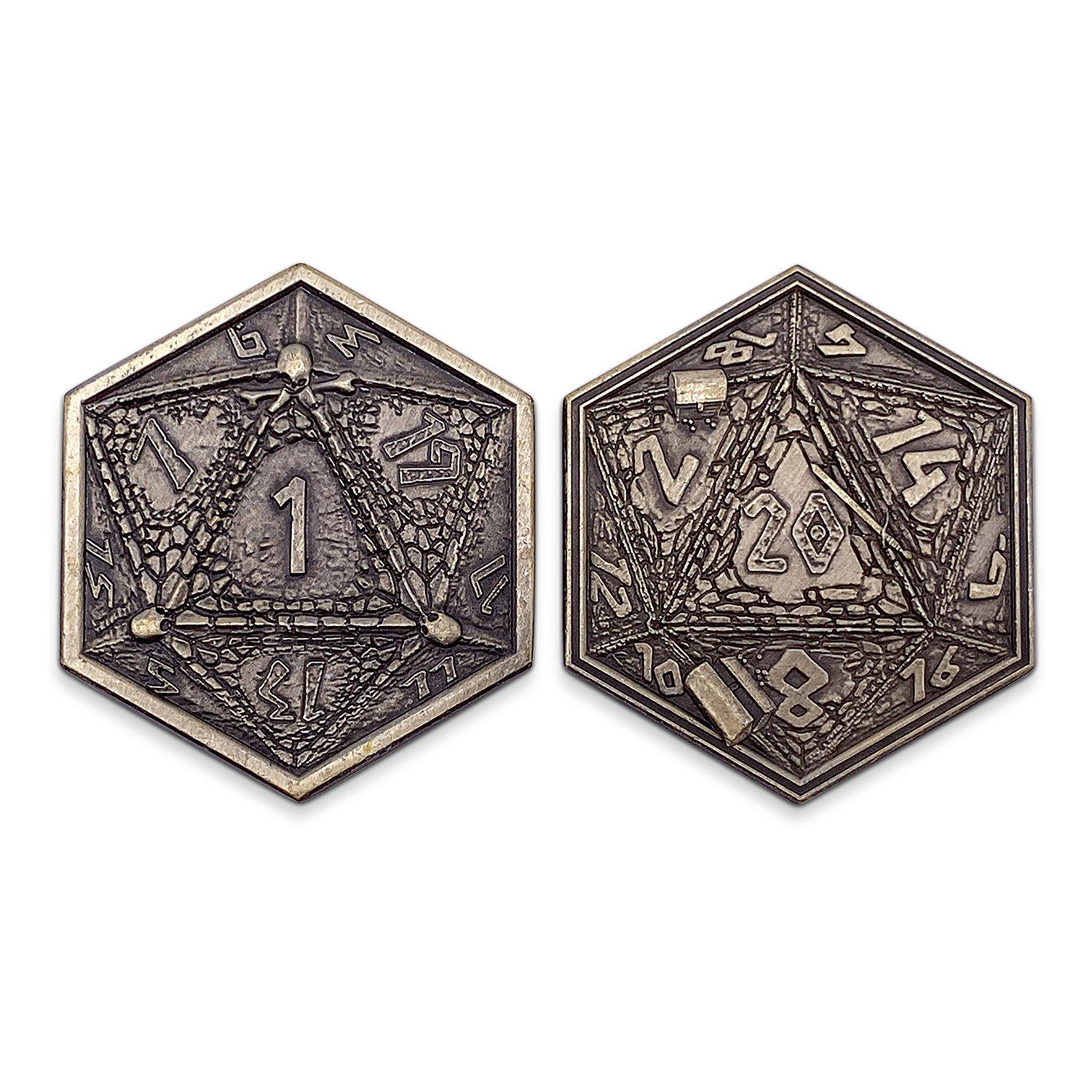 Metal RPG Dungeon Delvers Coin Gold Plated- 45mm