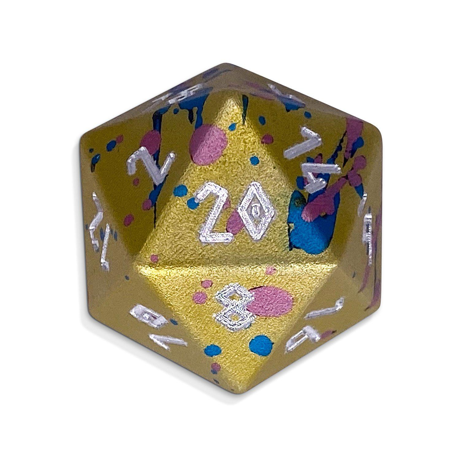Single Wondrous Dice® D20 in Easter Egg by Norse Foundry 6063 Aircraft Grade Aluminum