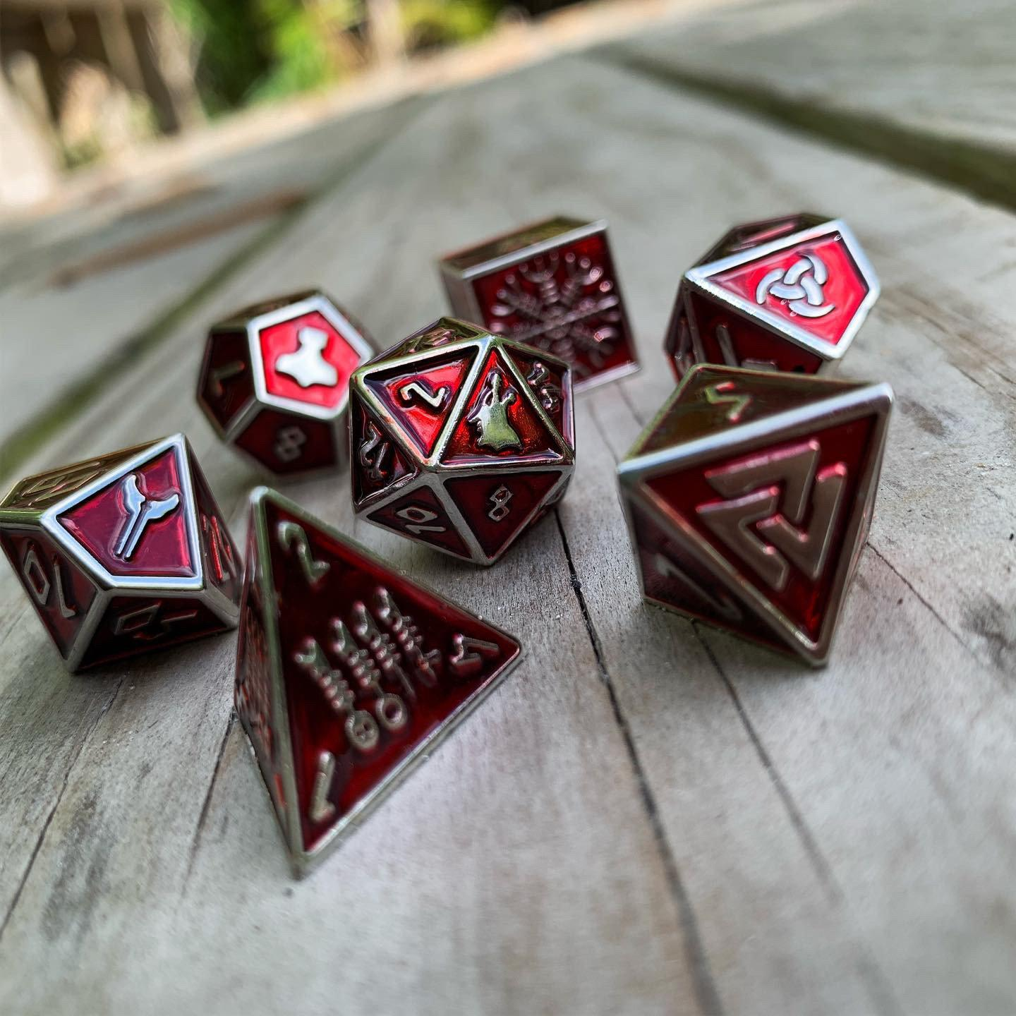 Vampire Blood - Norse Themed Metal Dice Set