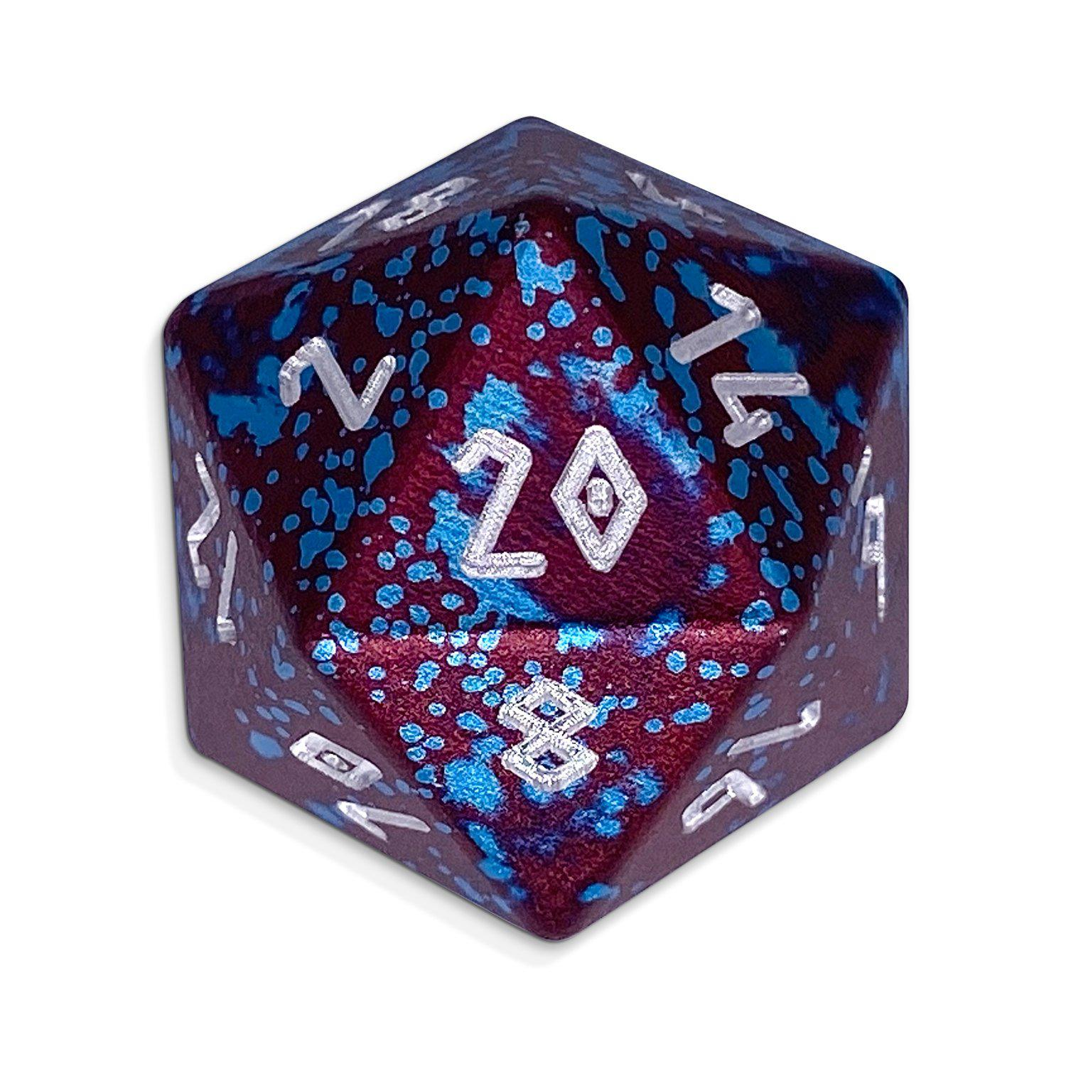 Single Wondrous Dice® D20 in Faerie Dragon by Norse Foundry 6063 Aircraft Grade Aluminum