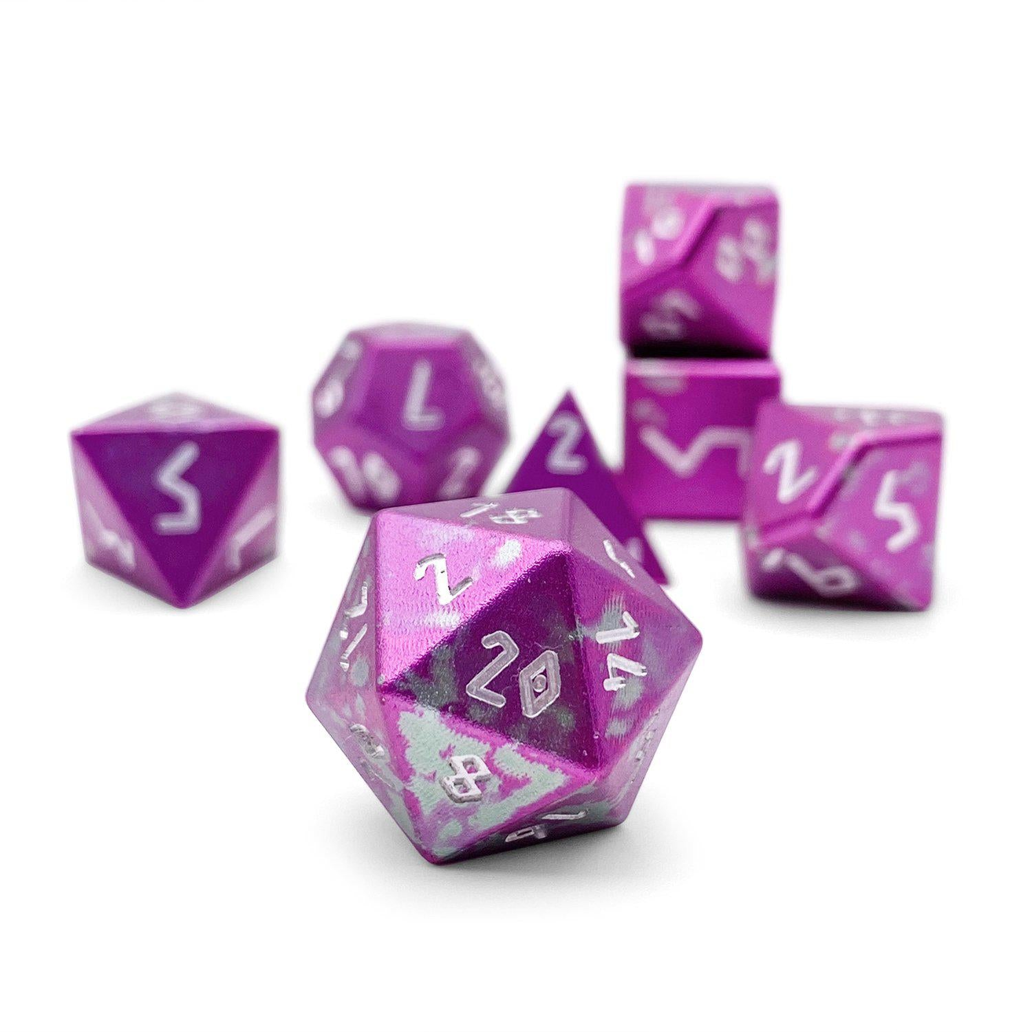 Pixie Dust - Wondrous Dice Set of 7 RPG Dice by Norse Foundry Precision Polyhedral Dice Set
