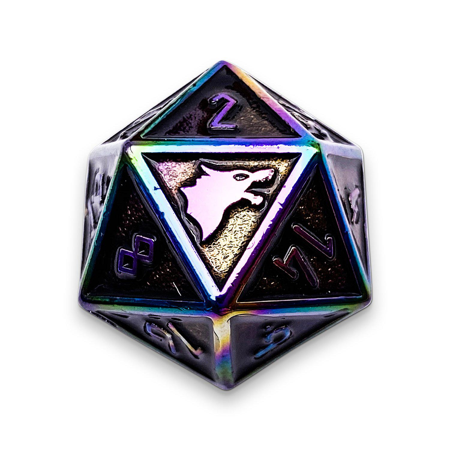 Fallen Star - Norse Themed Metal D20
