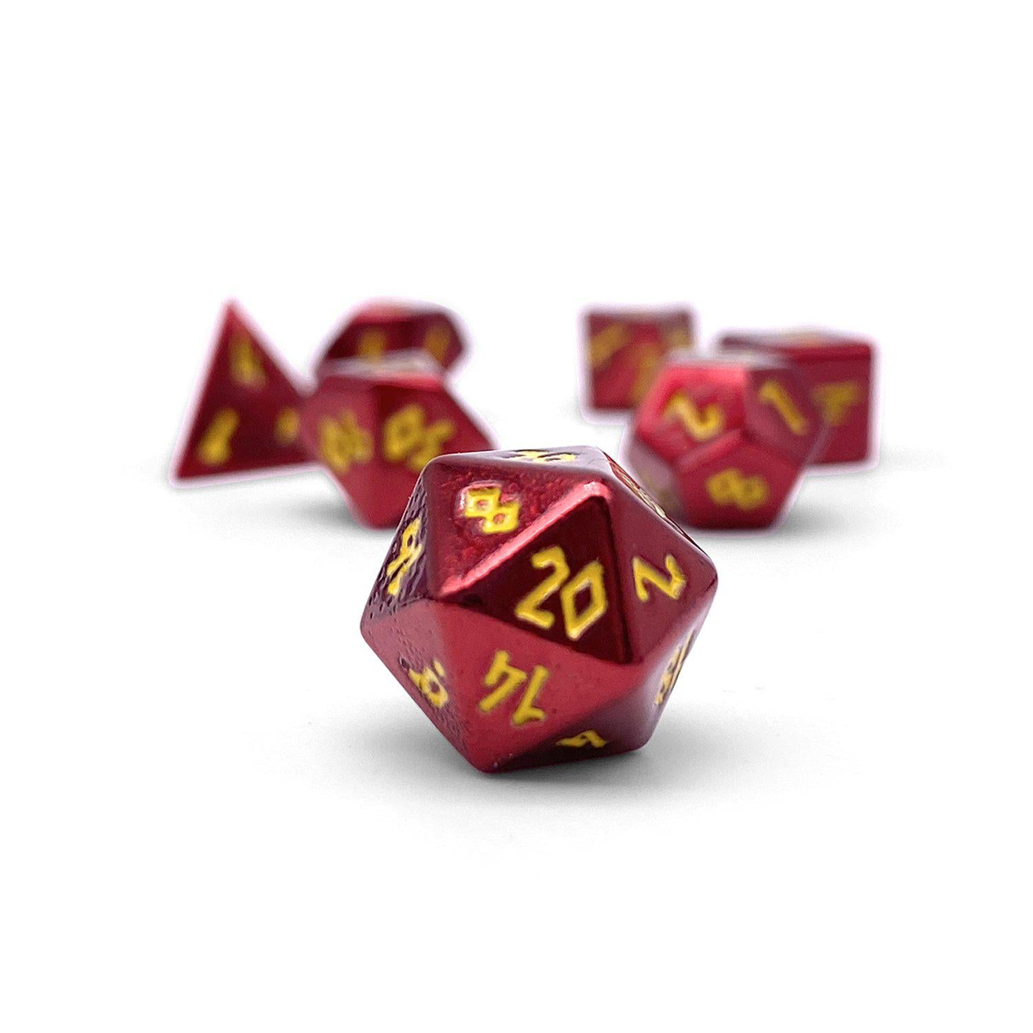 Fireball Pebble ™ Dice - 10mm Alloy Mini Polyhedral Dice Set