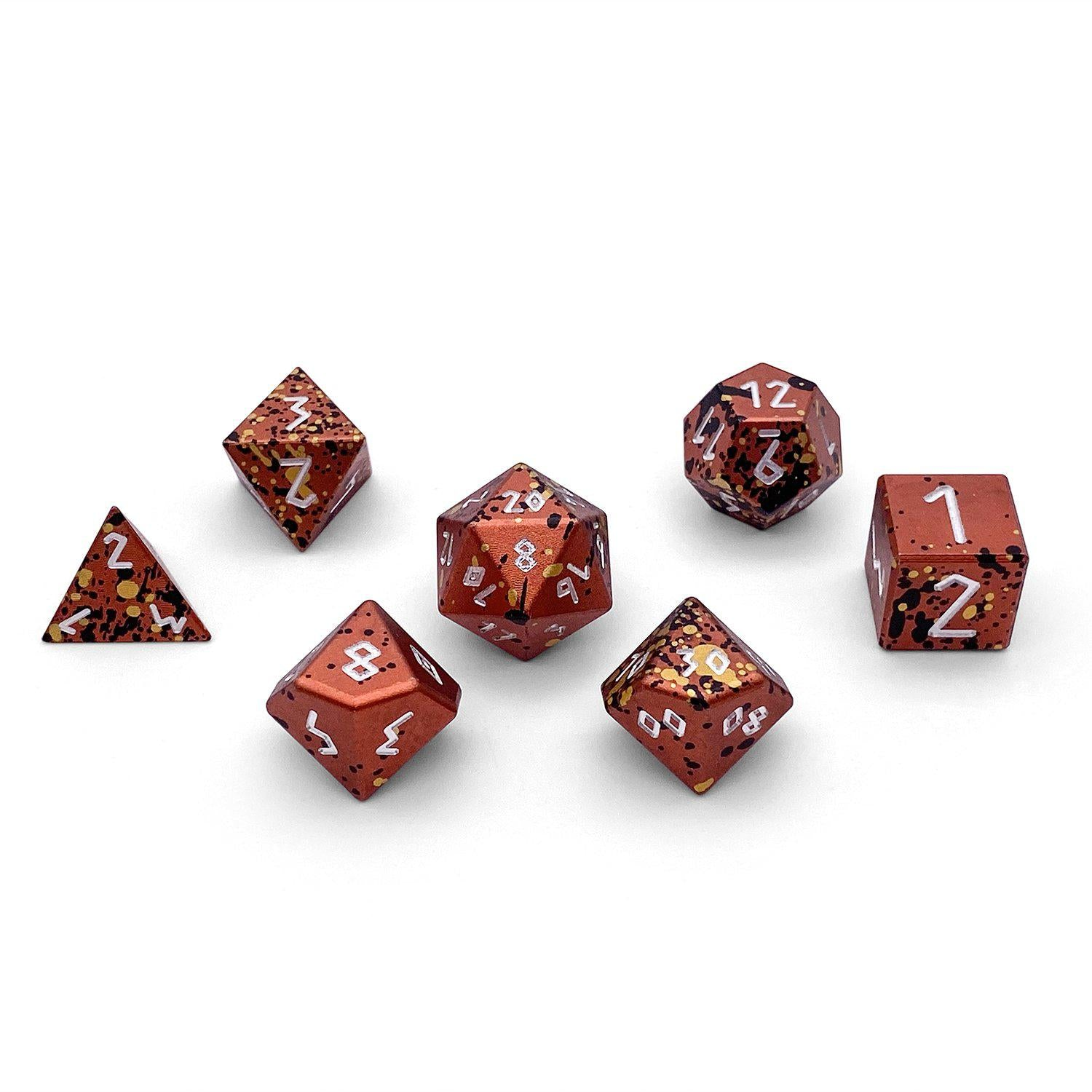 Single Wondrous Dice® D20 in Fire Elemental by Norse Foundry 6063 Aircraft Grade Aluminum