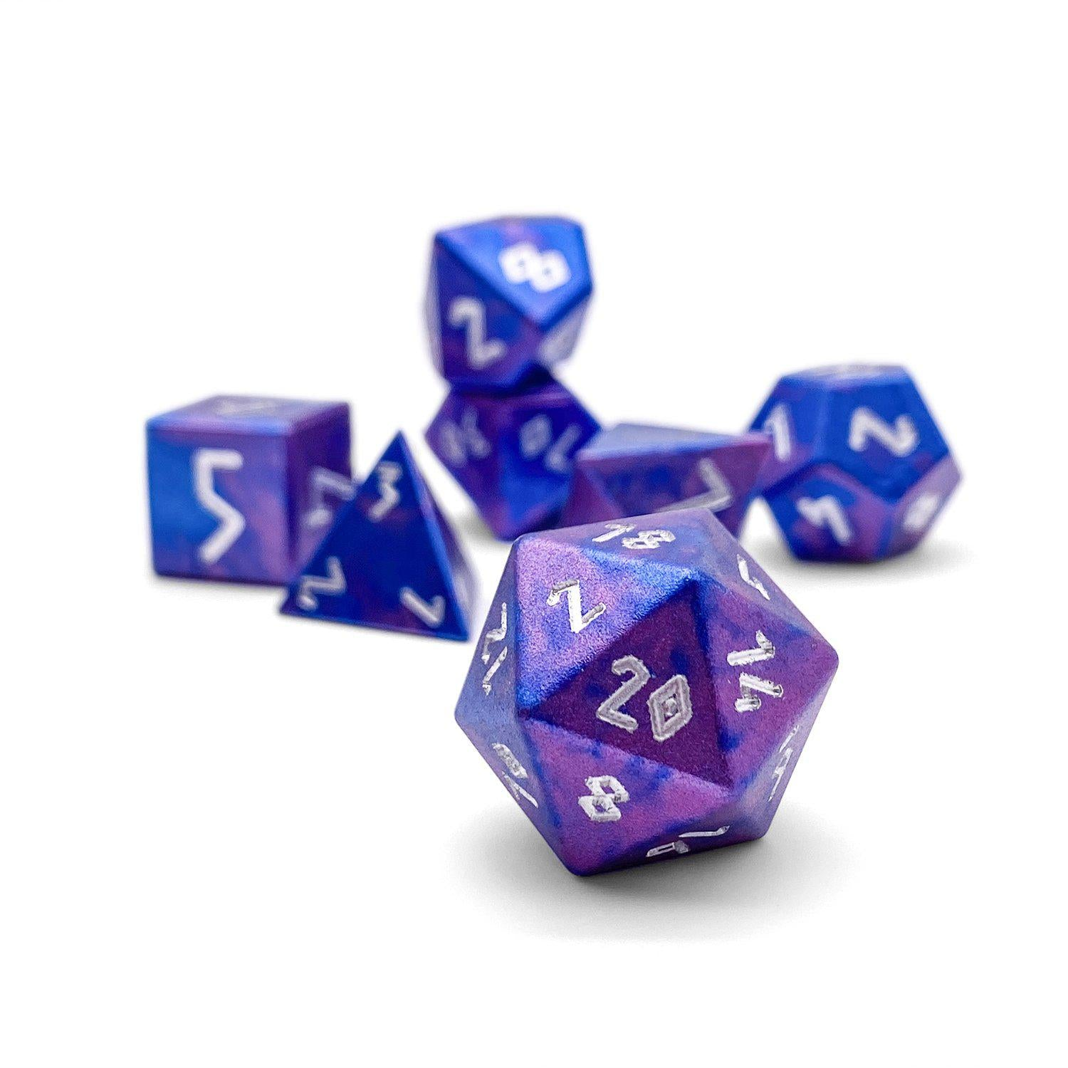 Galactic Conquest - Wondrous Dice Set of 7 RPG Dice by Norse Foundry Precision Polyhedral Dice Set