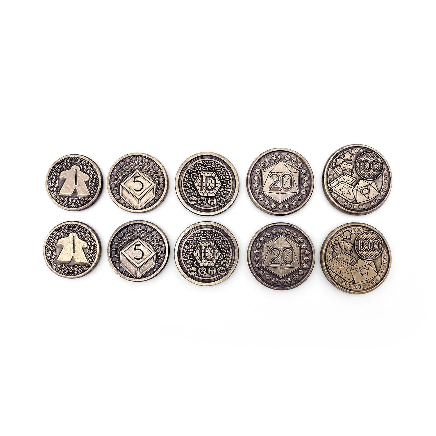 Adventure Coins - Game Night Metal Coins Set of 10