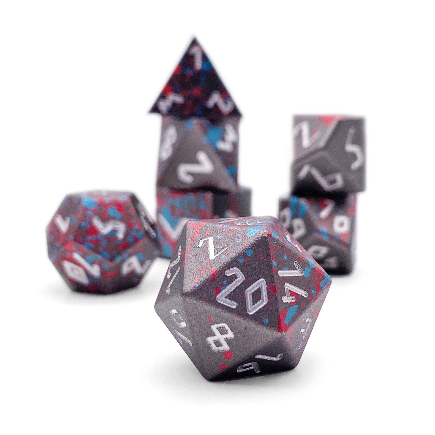 Giant Slayer - Wondrous Dice Set of 7 RPG Dice by Norse Foundry Precision Polyhedral Dice Set