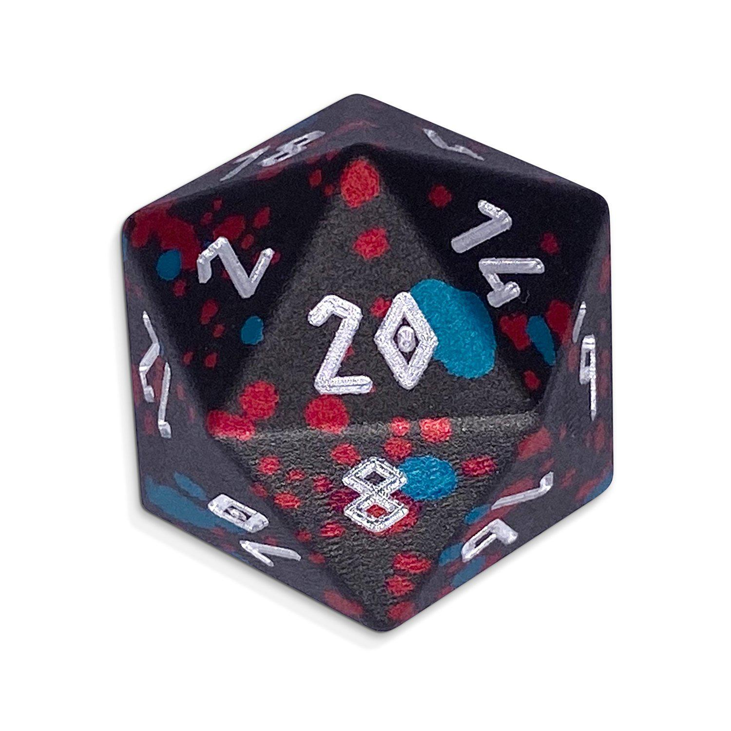 Single Wondrous Dice® D20 in Giant Slayer by Norse Foundry 6063 Aircraft Grade Aluminum
