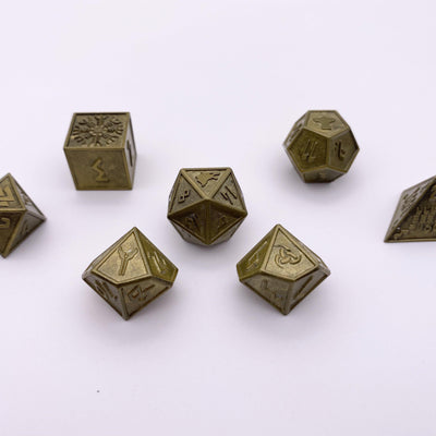 Gladiator - Norse Themed Metal Dice Set