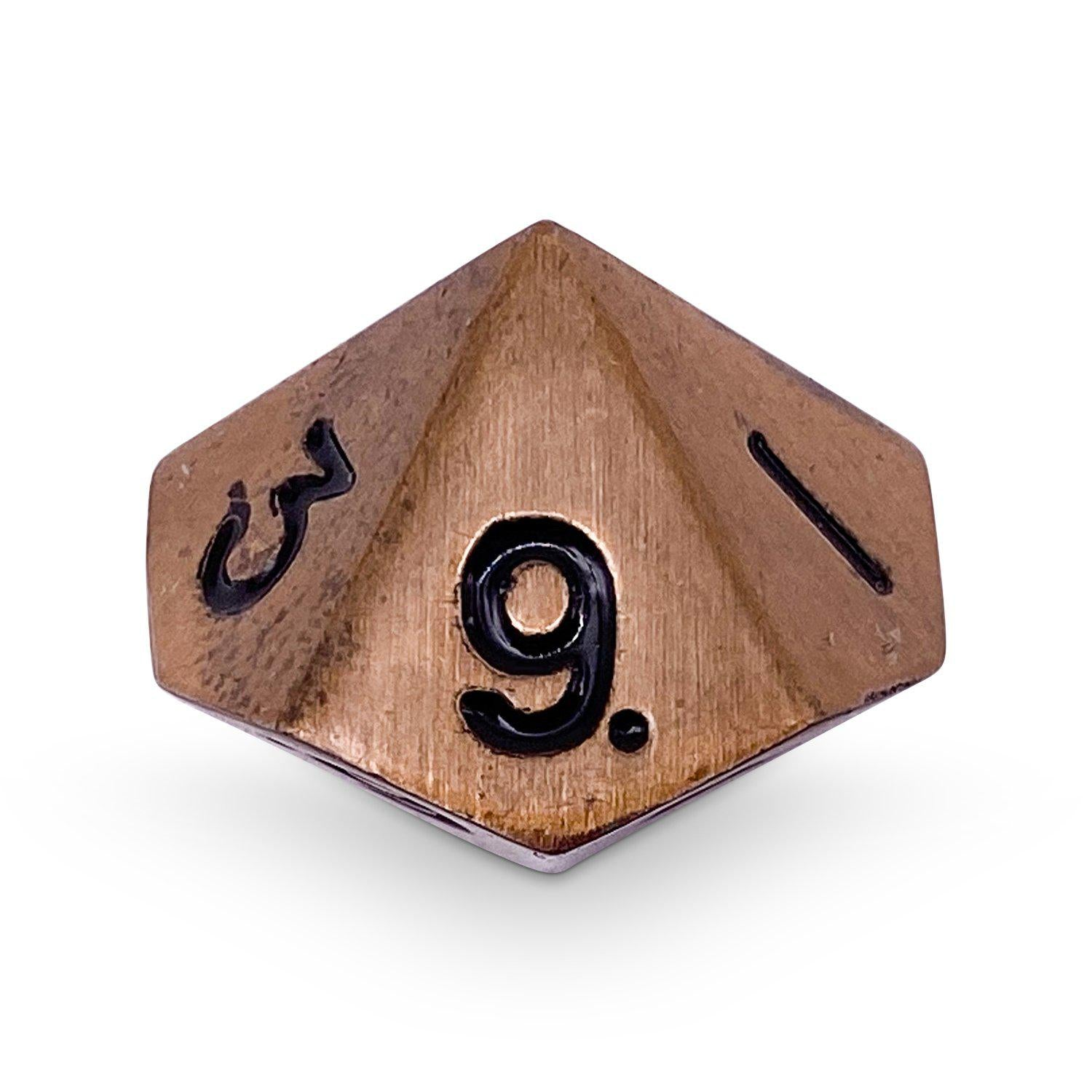 Single Alloy D10 in Gnomish Copper by Norse Foundry