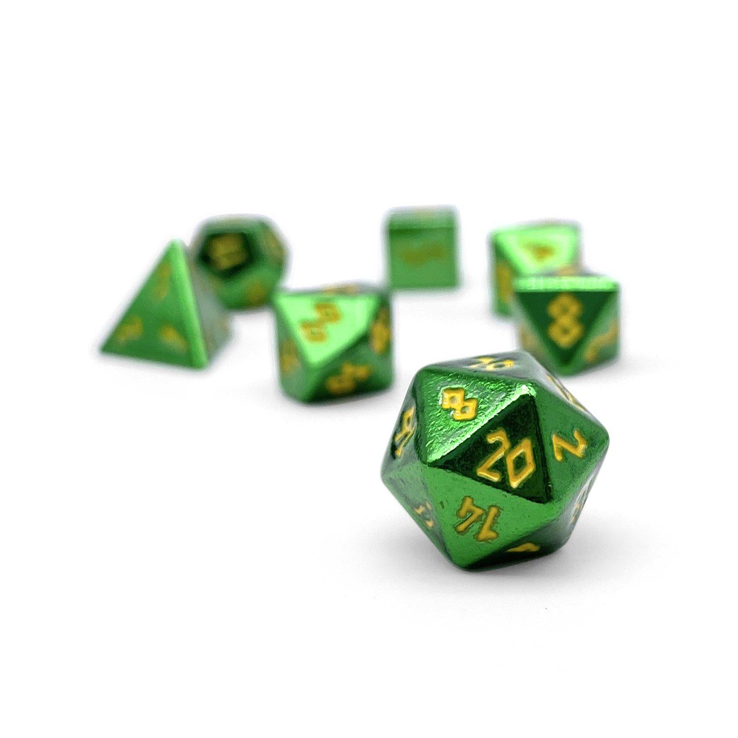 Goblin Horde Pebble ™ Dice - 10mm Alloy Mini Polyhedral Dice Set