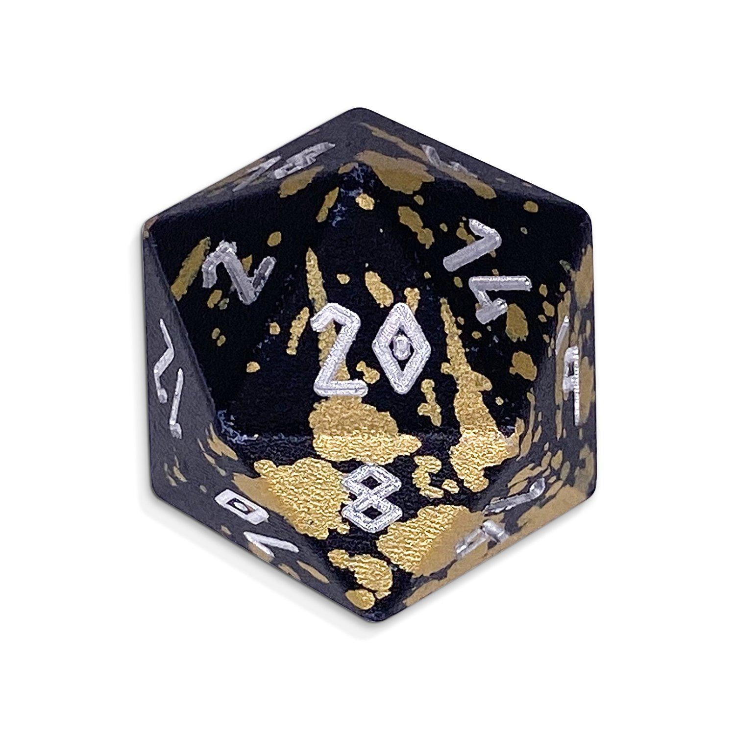 Single Wondrous Dice® D20 in Great Void by Norse Foundry 6063 Aircraft Grade Aluminum