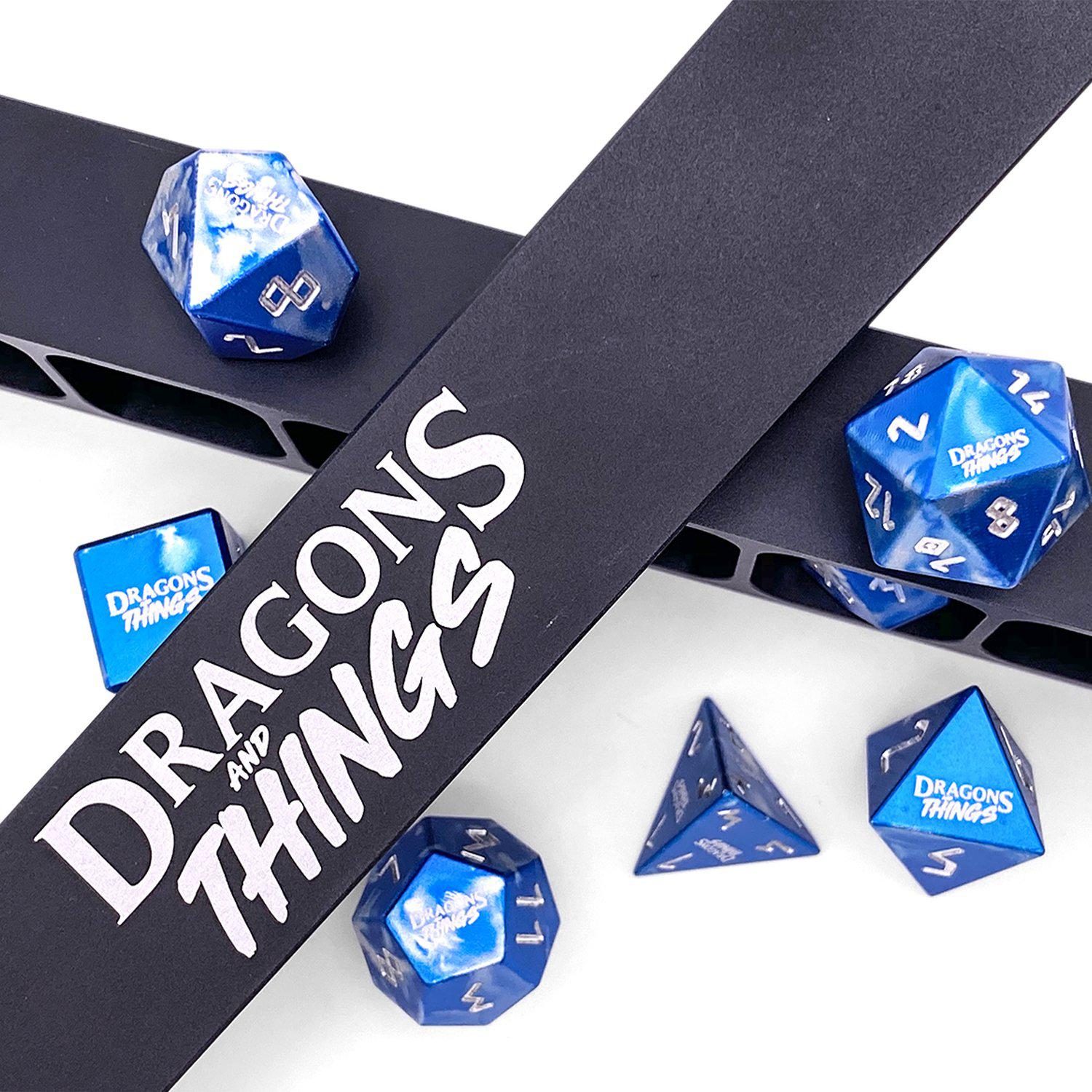 Dragons and Things Holy Smite - Precision CNC Aluminum Dice Set with Dice Vault