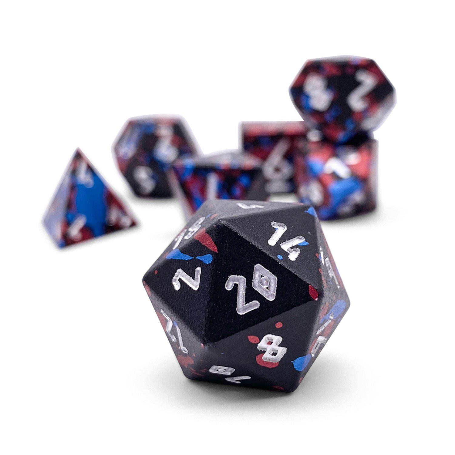 Dark Circus - Wondrous Dice Set of 7 RPG Dice by Norse Foundry Precision Polyhedral Dice Set