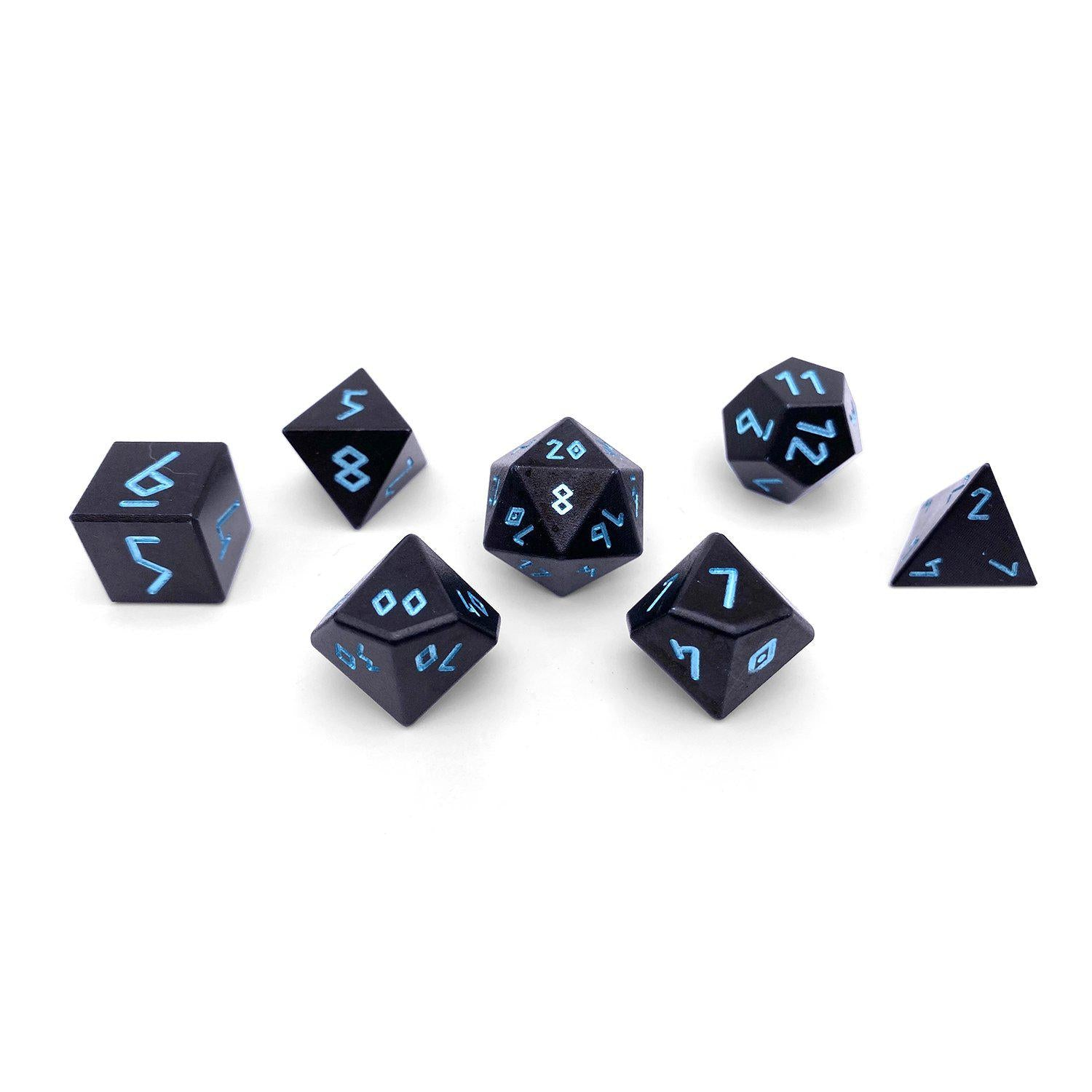 Orb Series - Orb of Ice - Set of 7 RPG Dice by Norse Foundry Precision Polyhedral Dice Set