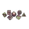 Set of 7 Hydra Scorched Titanium RPG Dice by Norse Foundry Polyhedral Dice Set