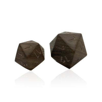 Boulder® - D20 Black Walnut - RPG Wooden Die