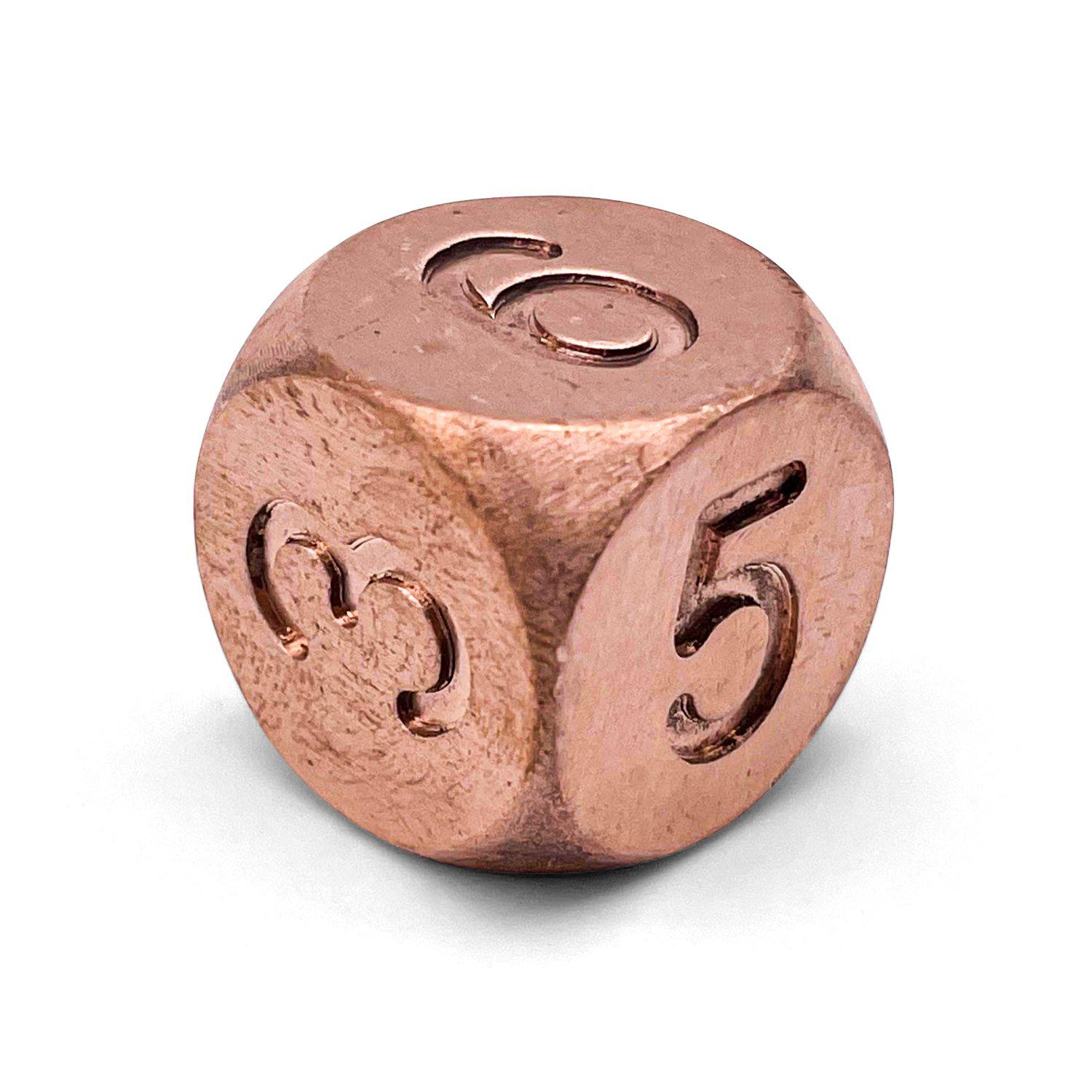 True Metal Rounded D6 - Real Copper Die