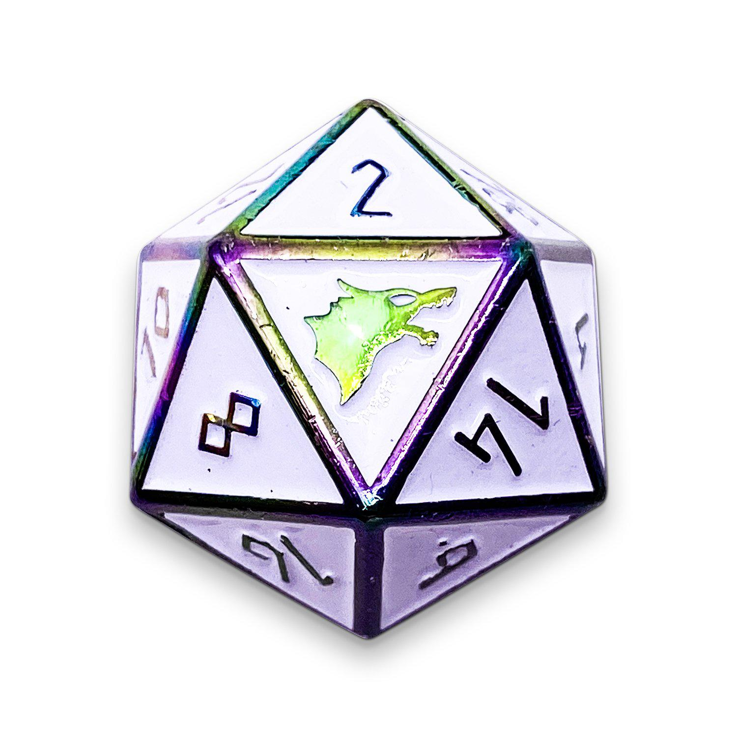 Ice Storm - Norse Themed Metal D20