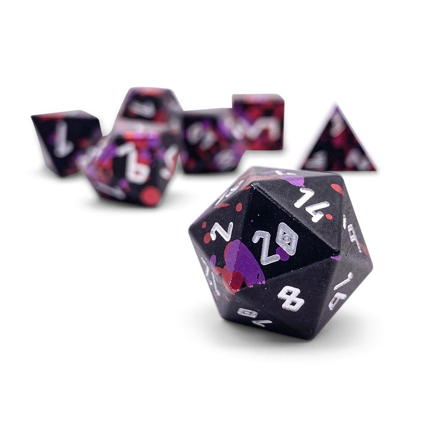 Infernal Pact - Wondrous Dice Set of 7 RPG Dice by Norse Foundry Precision Polyhedral Dice Set