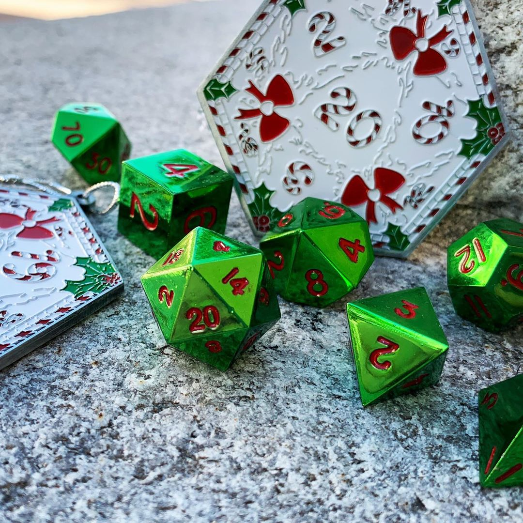 Special Edition Kringle Metal Dice Set