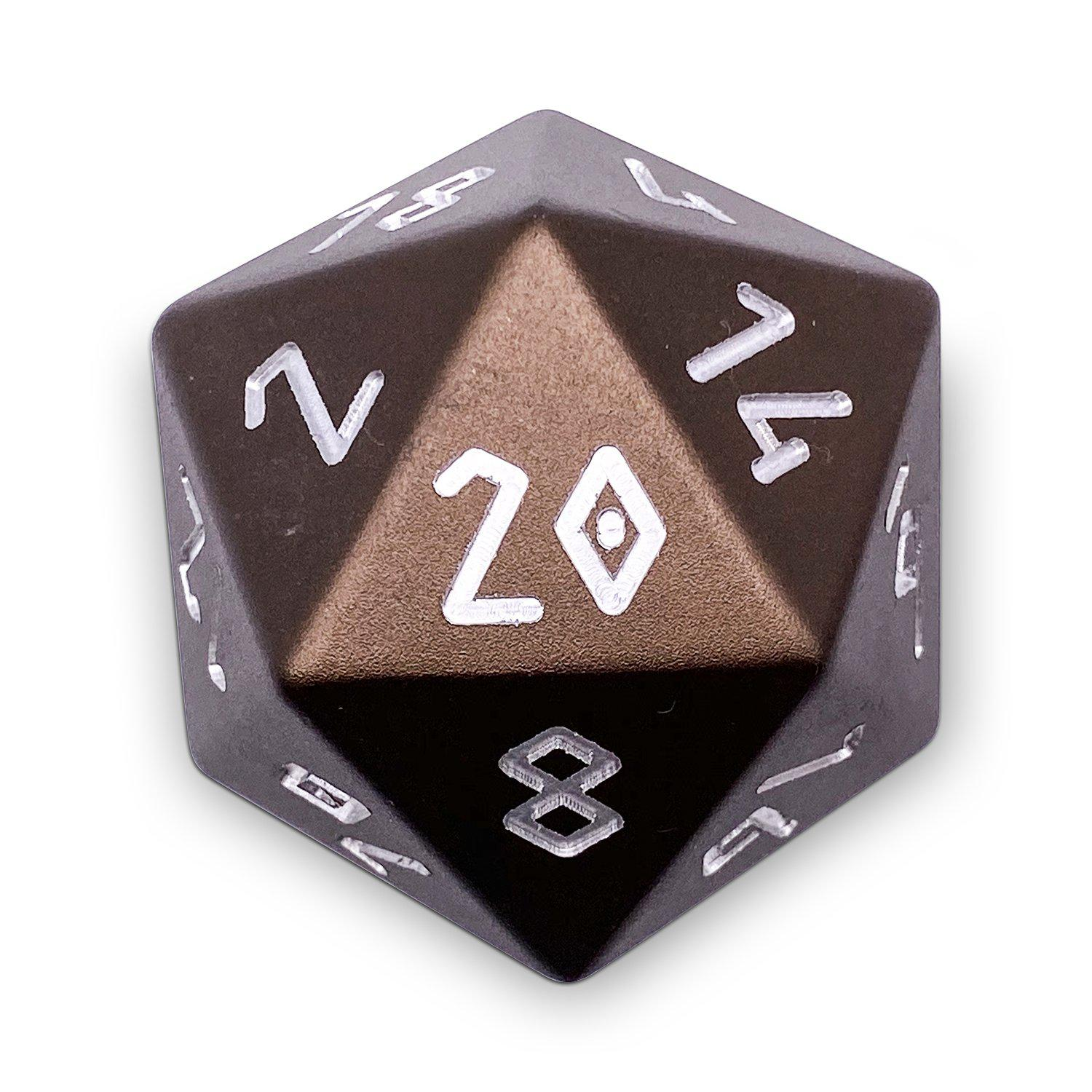Leather Brown - Boulder® 55mm D20 6063 Aircraft Grade Aluminum Metal Die