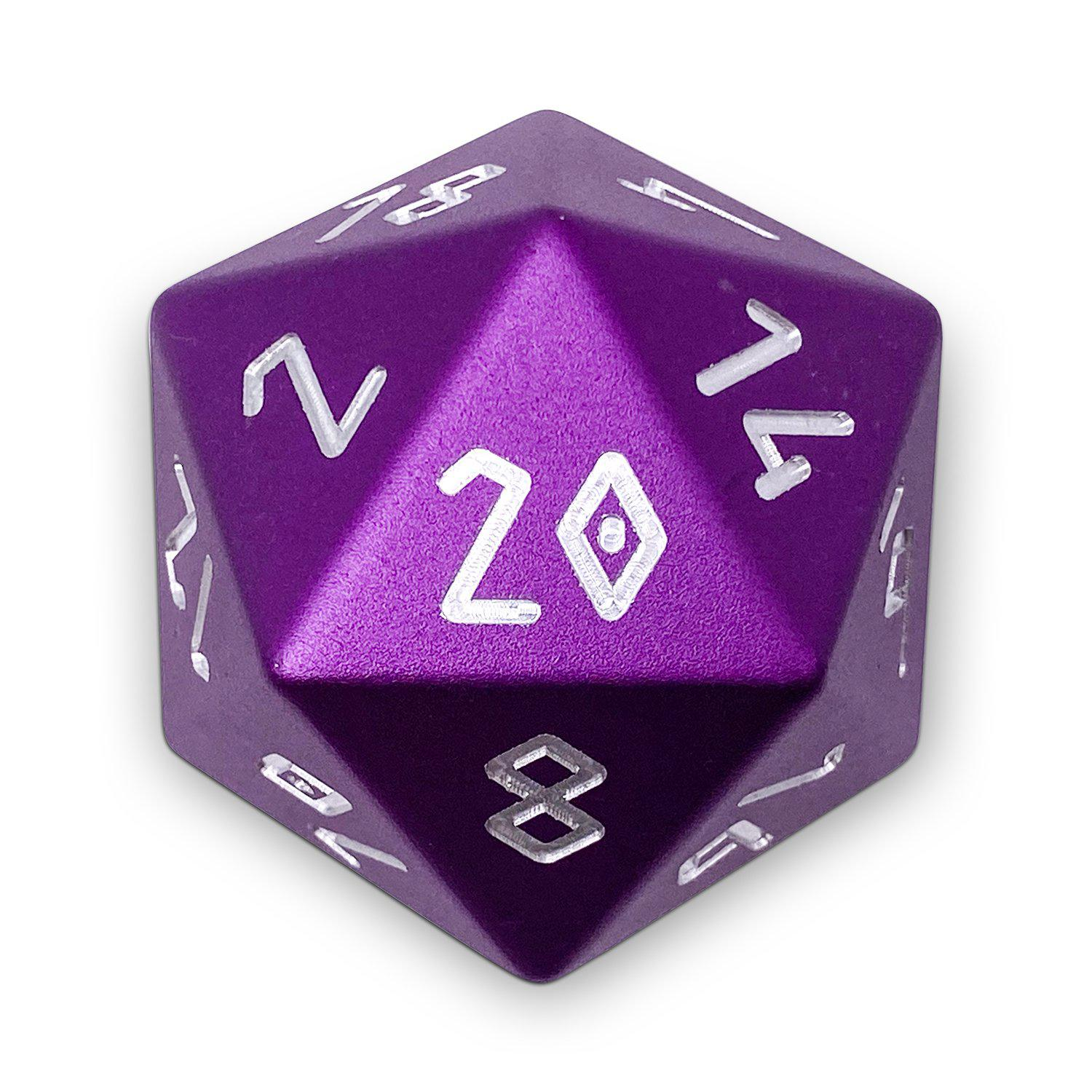 Lich Purple - Precision Boulder® 55mm D20 6063 Aircraft Grade Aluminum Metal Die