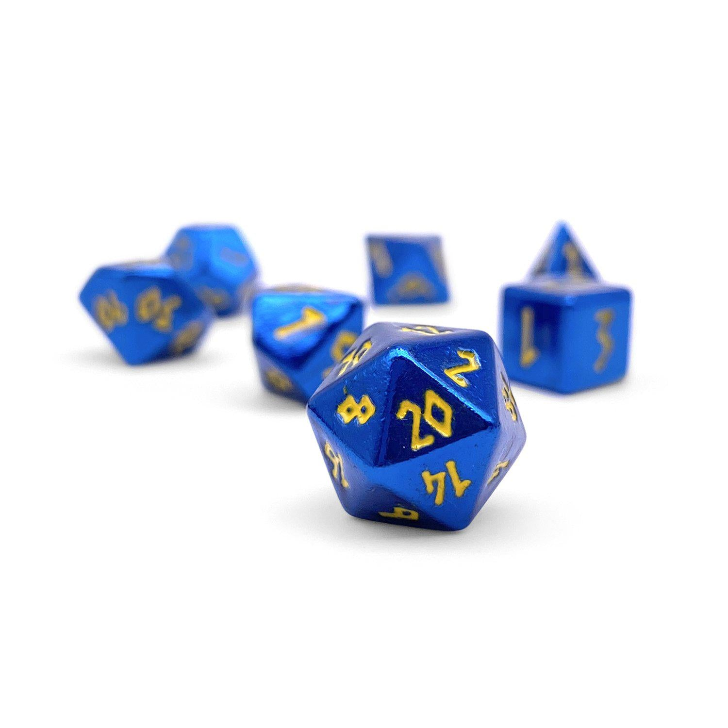 Lightning Bolt Pebble ™ Dice - 10mm Alloy Mini Polyhedral Dice Set