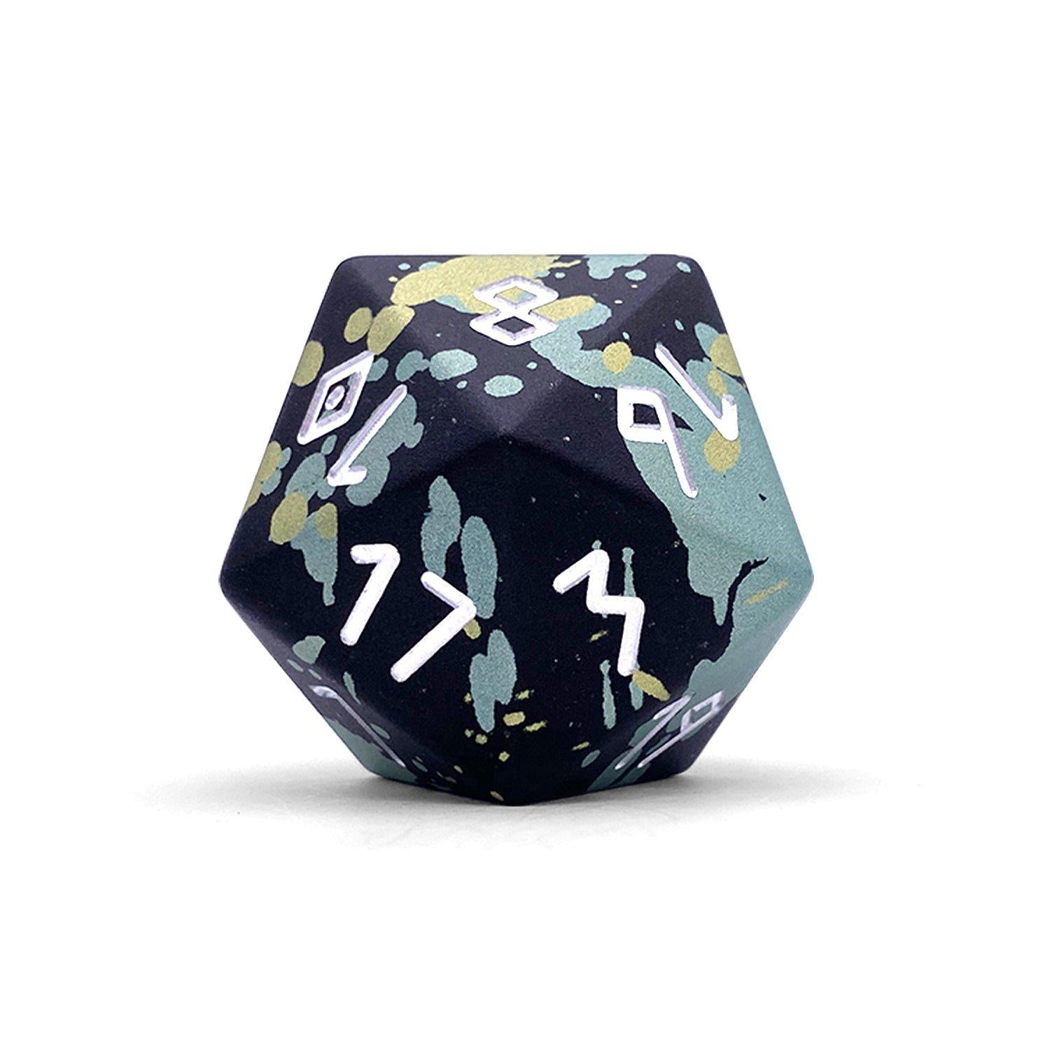 Single Wondrous Dice® D20 in Lizardman by Norse Foundry