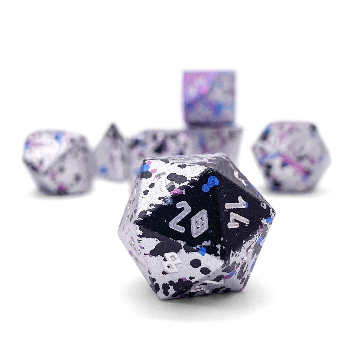 Magic Missile - Wondrous Dice Set of 7 RPG Dice by Norse Foundry Precision Polyhedral Dice Set