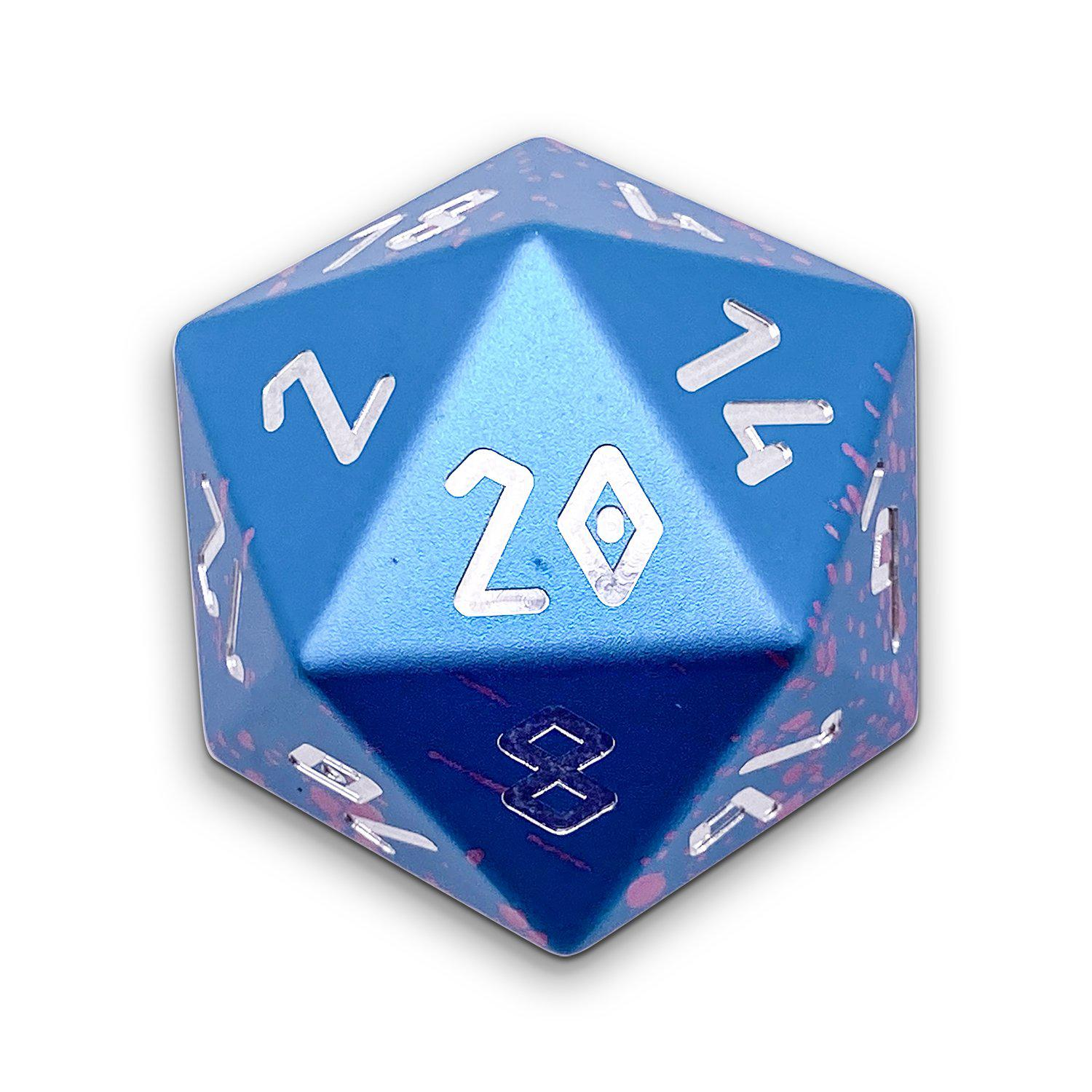 Miami Dice - Single D20 Wondrous 20mm 6063 Aircraft Grade Aluminum Metal Die