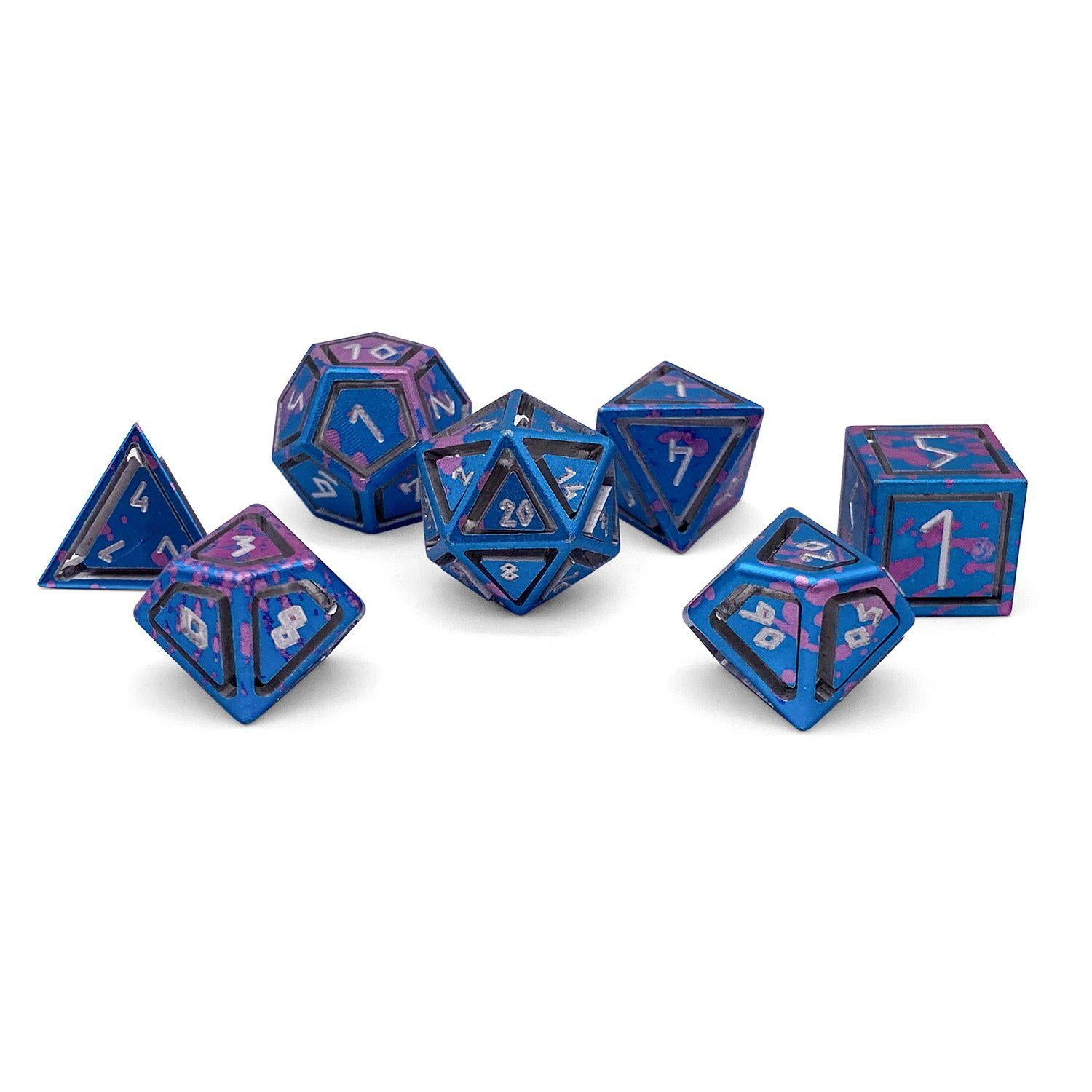 Nimbus Wondrous Precision CNC Aluminum Dice Set - Miami Dice