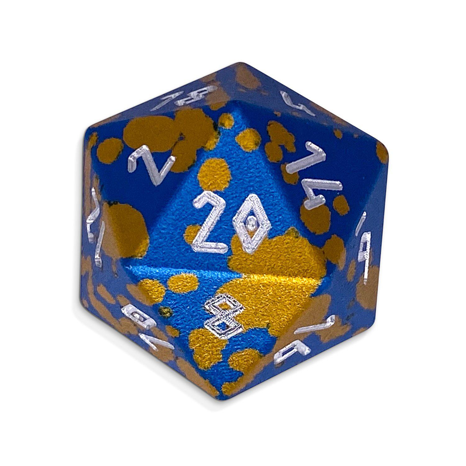Single Wondrous Dice® D20 in Mimic by Norse Foundry® 6063 Aircraft Grade Aluminum