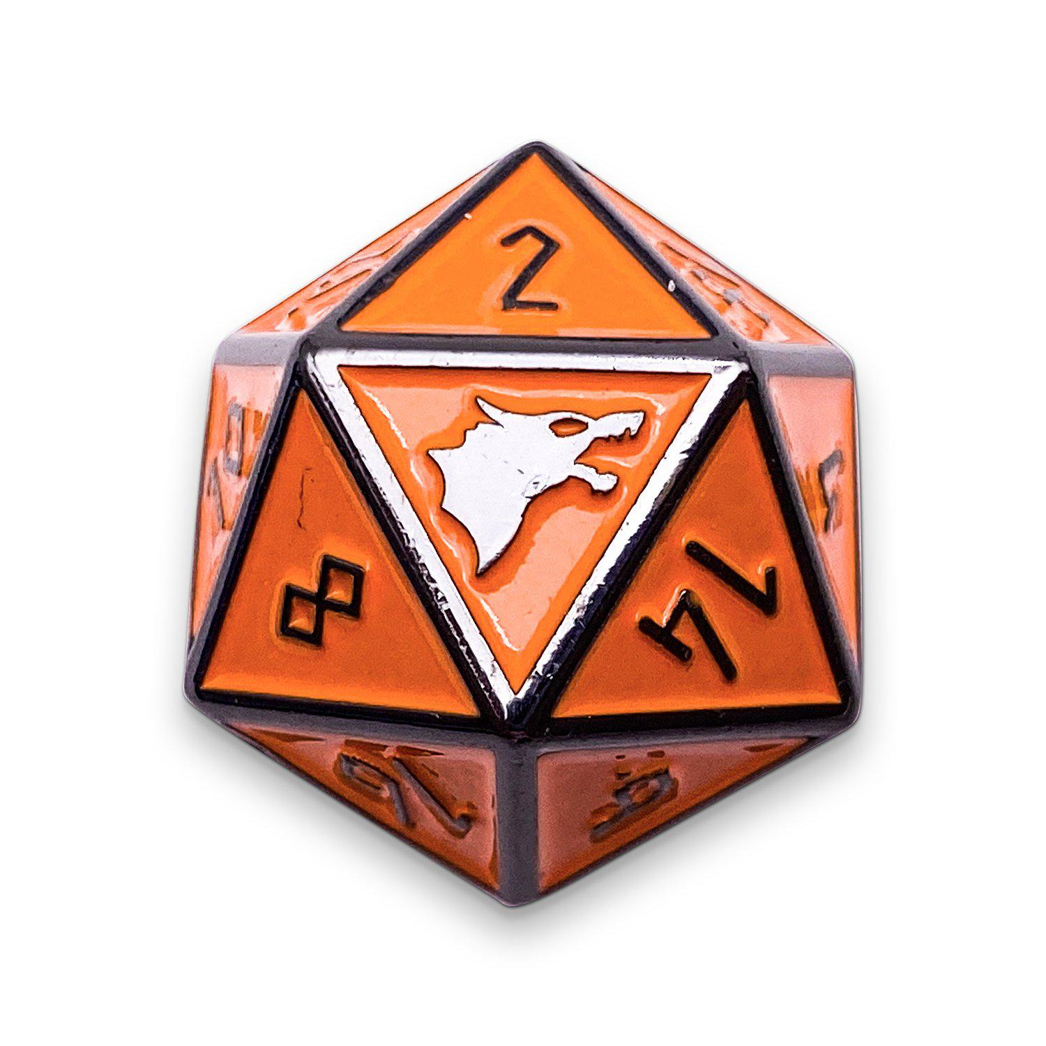 Molten Lava - Norse Themed Metal D20