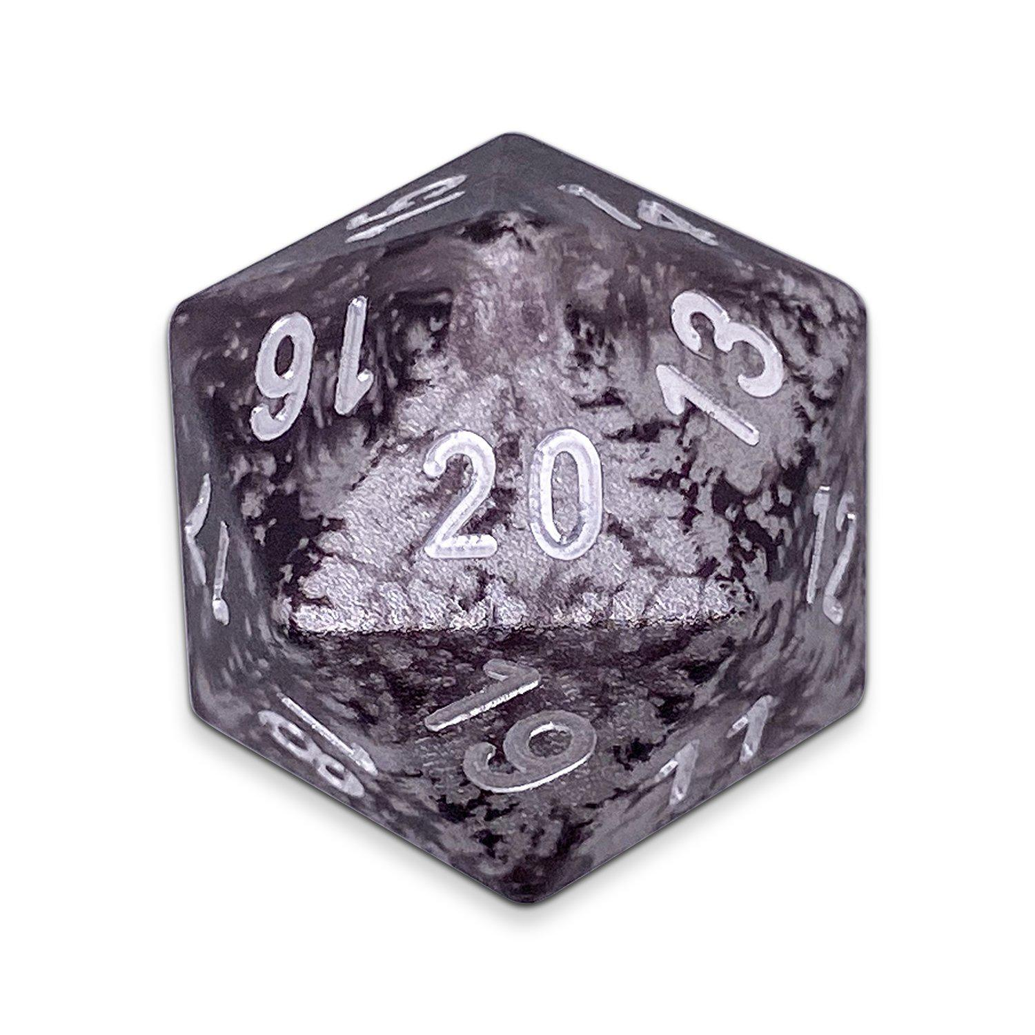 Single Wondrous Dice® Countdown D20 in Mummy Lord by Norse Foundry 6063 Aircraft Grade Aluminum