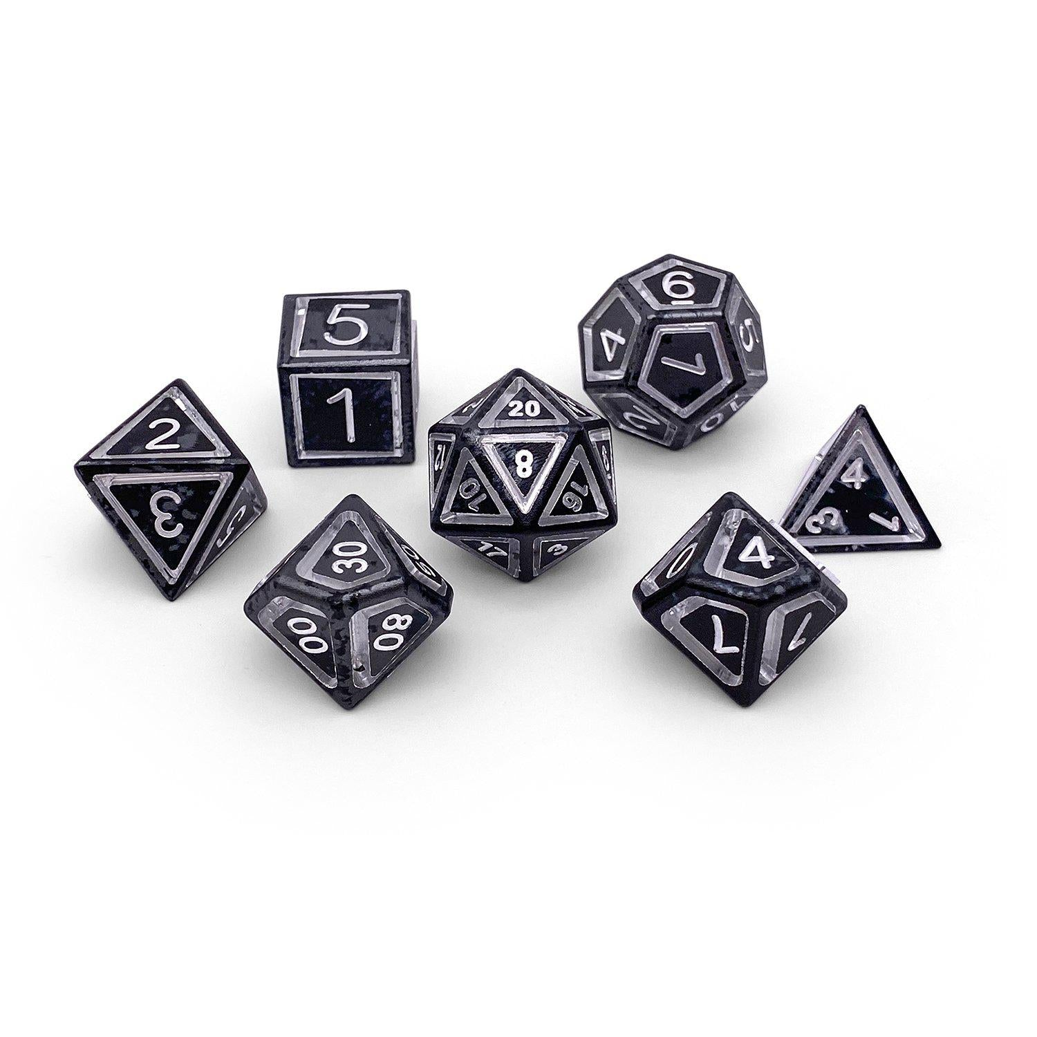 Nimbus Wondrous Precision CNC Aluminum Dice Set - Mummy Lord