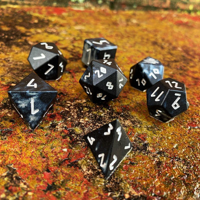 Mummy Lord - Wondrous Dice Set of 7 RPG Dice by Norse Foundry Precision Polyhedral Dice Set