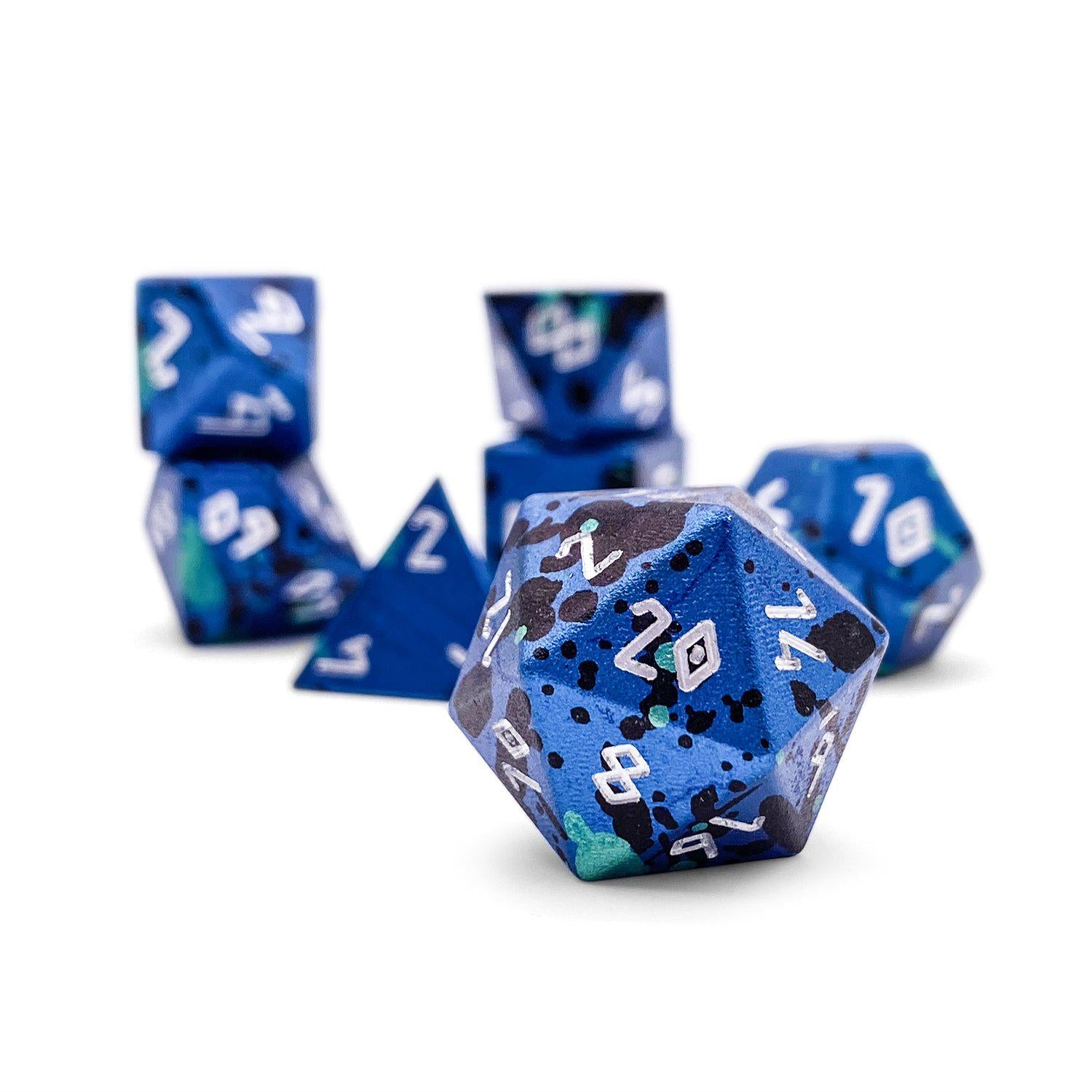 The Mystery Die TM - Wondrous Dice Set of 7 RPG Dice by Norse Foundry Precision Polyhedral Dice Set