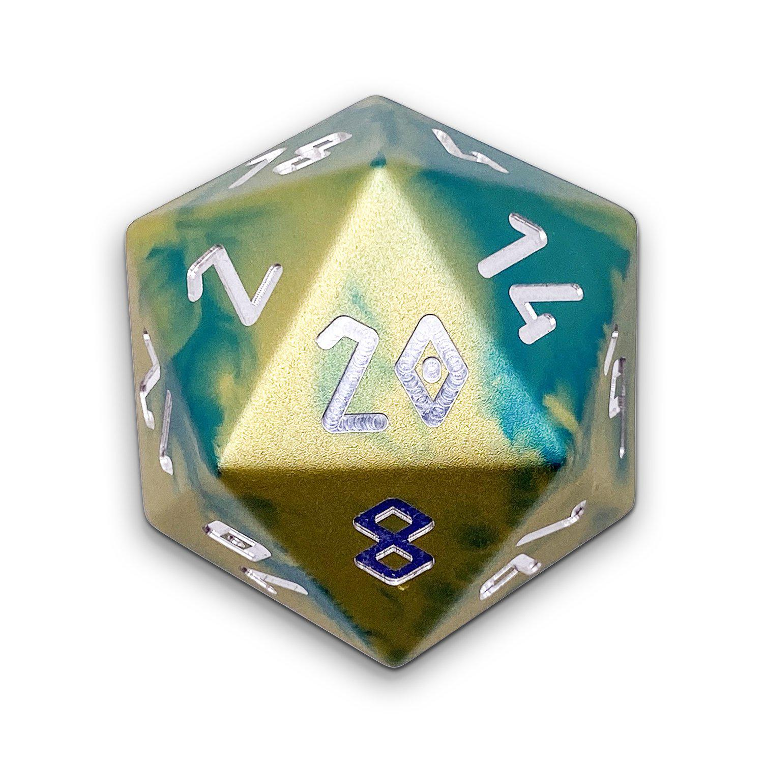 Nautical Demise - Wondrous Boulder® 55mm D20 6063 Aircraft Grade Aluminum Metal Die