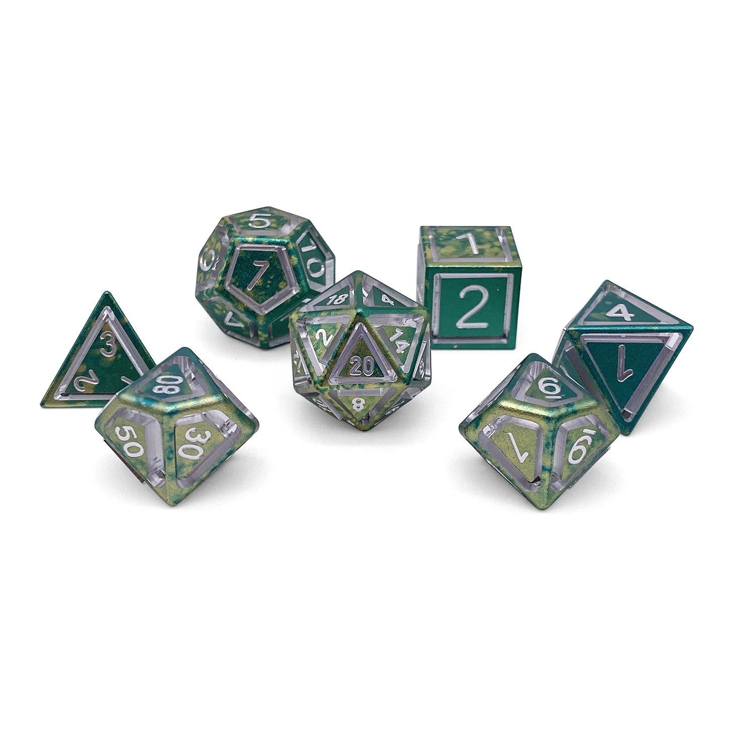 Nimbus Wondrous Precision CNC Aluminum Dice Set - Nautical Demise
